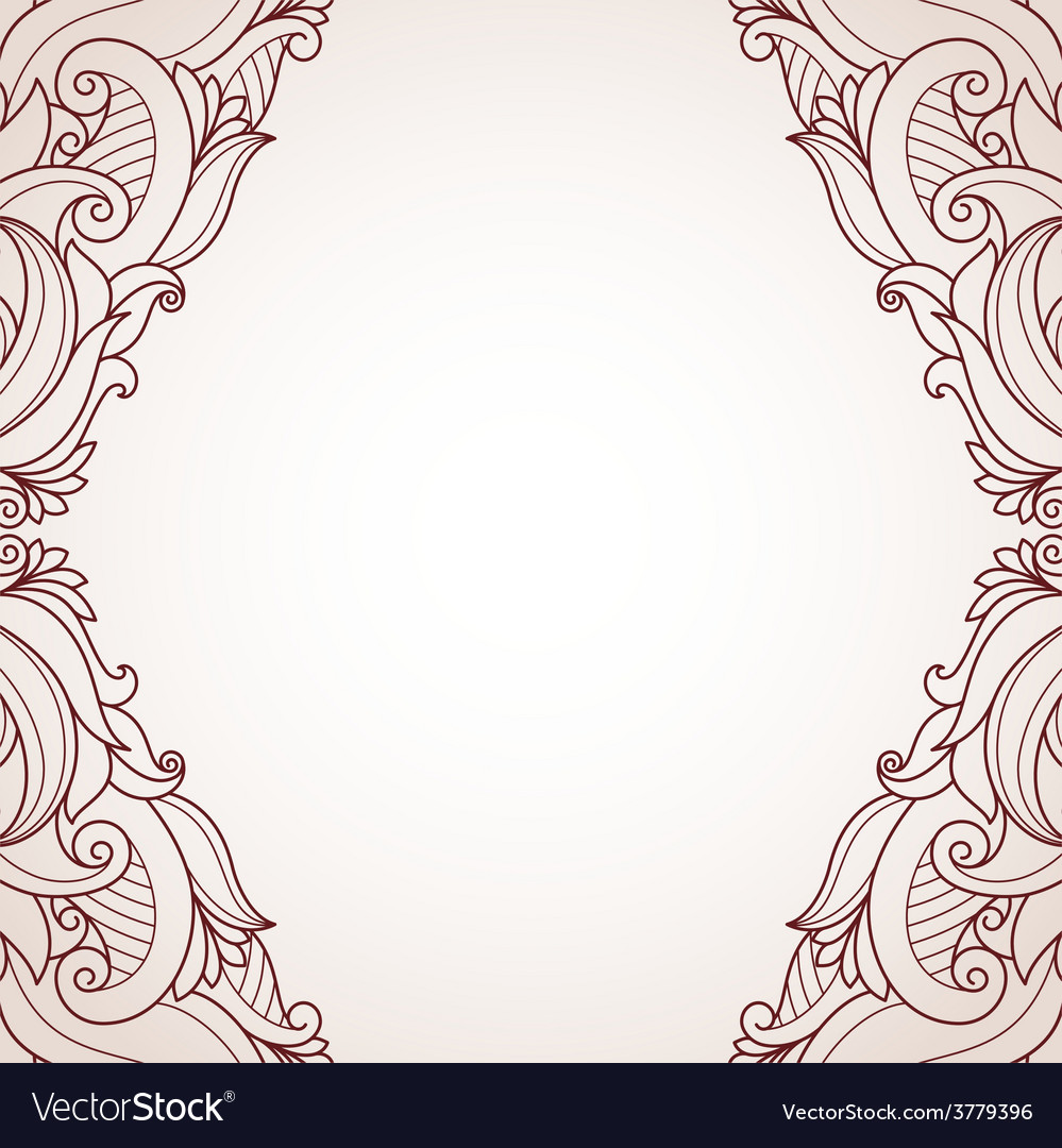 Abstract floral greeting card vector | Price: 1 Credit (USD $1)