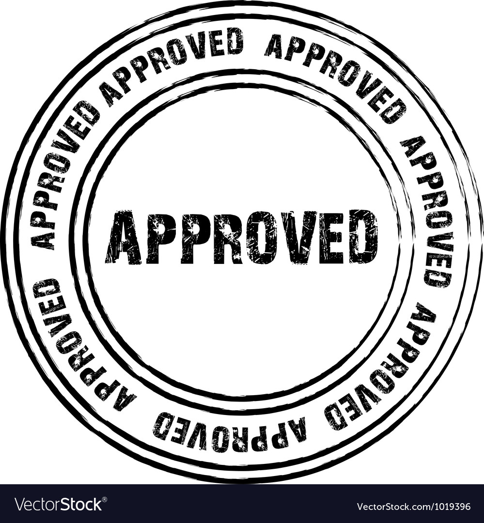 Black stamp for approved vector | Price: 1 Credit (USD $1)