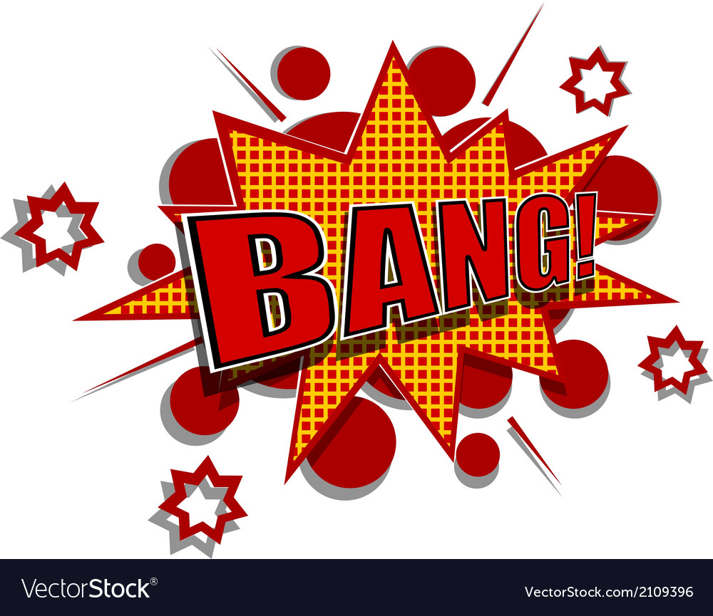 Cartoon of bang vector | Price: 1 Credit (USD $1)