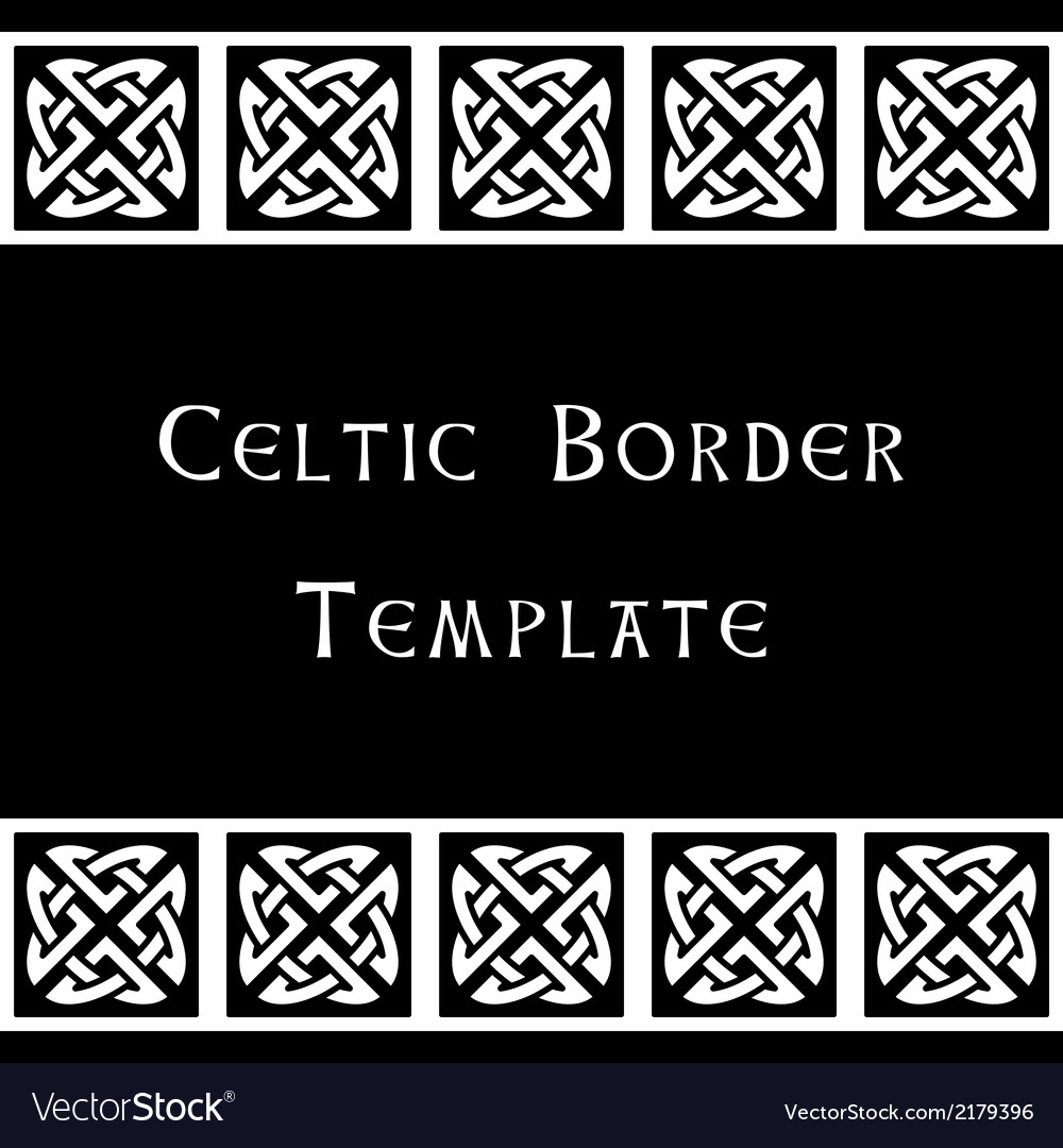 Celtic border template vector | Price: 1 Credit (USD $1)