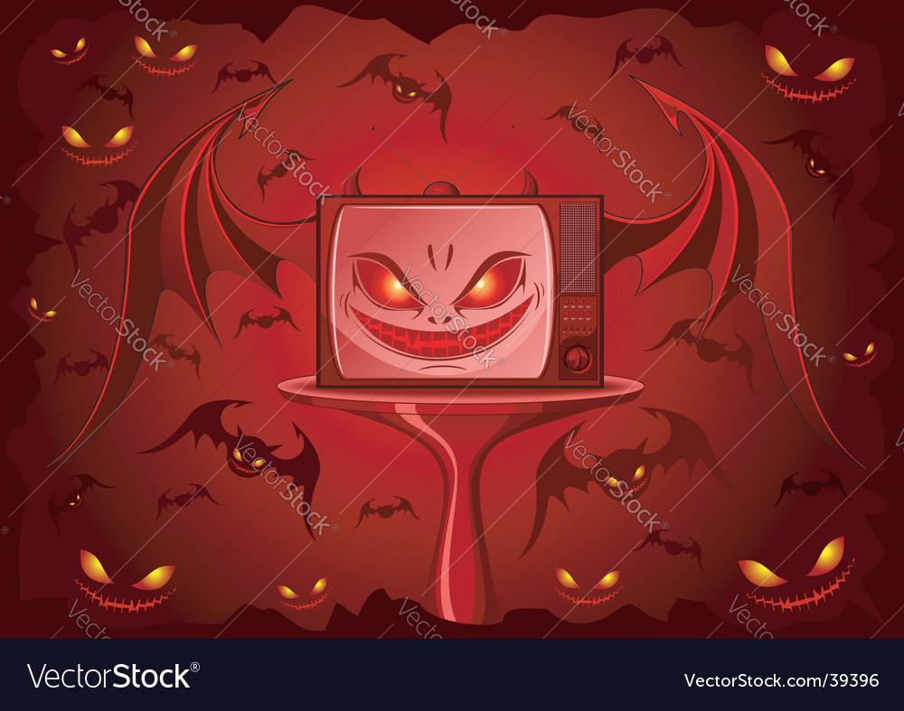 Evil tv vector