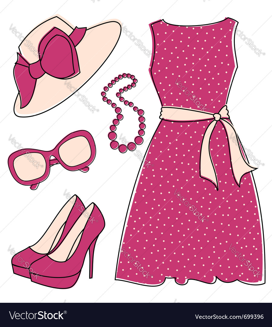 Fashion accessories set vector | Price: 1 Credit (USD $1)