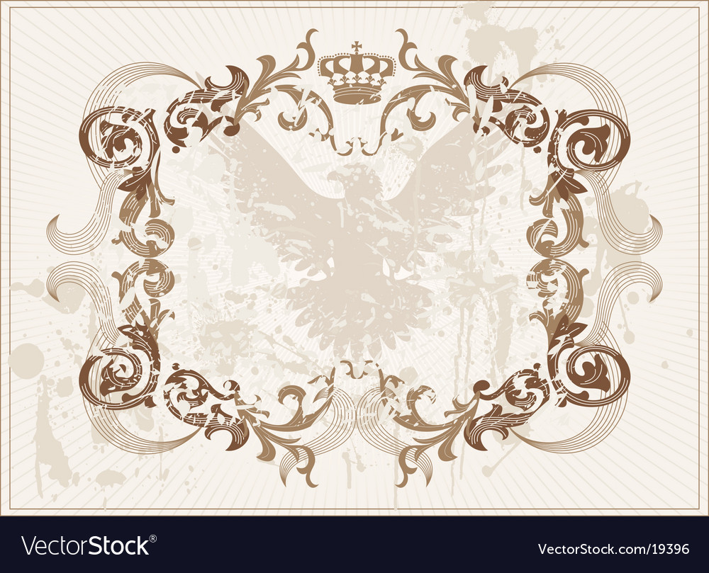 Frame with eagle vector | Price: 1 Credit (USD $1)