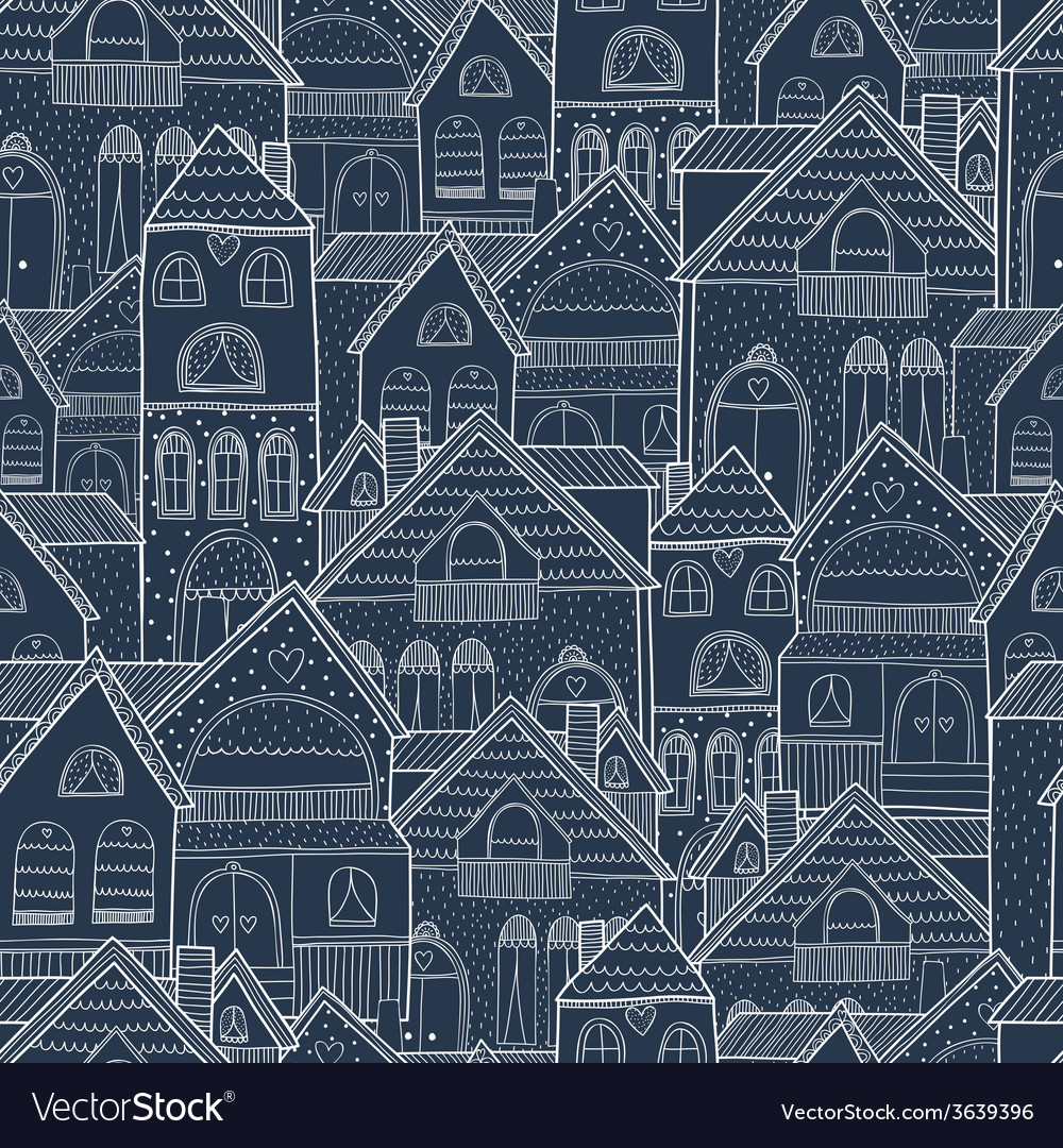 Home seamless background vector | Price: 1 Credit (USD $1)