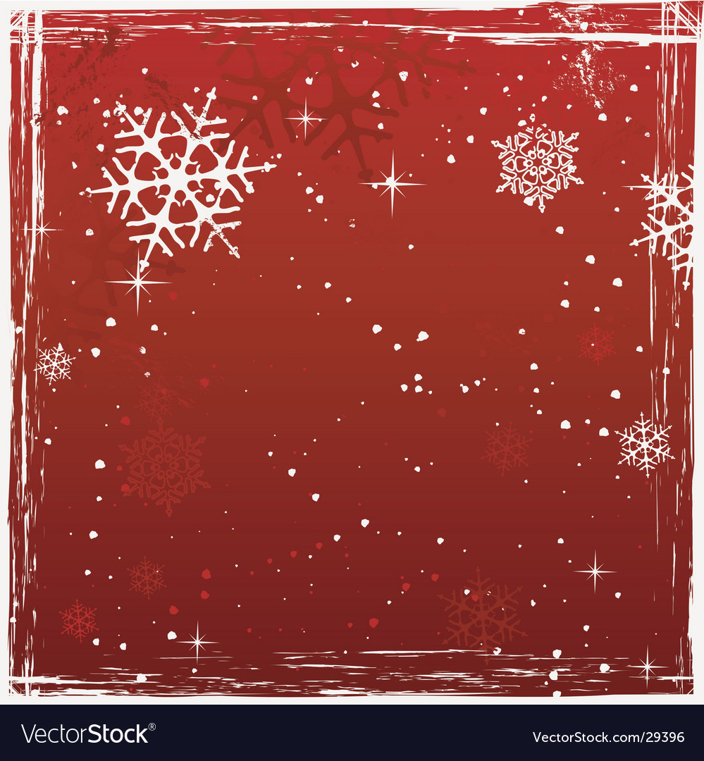 Red square grunge christmas background vector | Price: 1 Credit (USD $1)