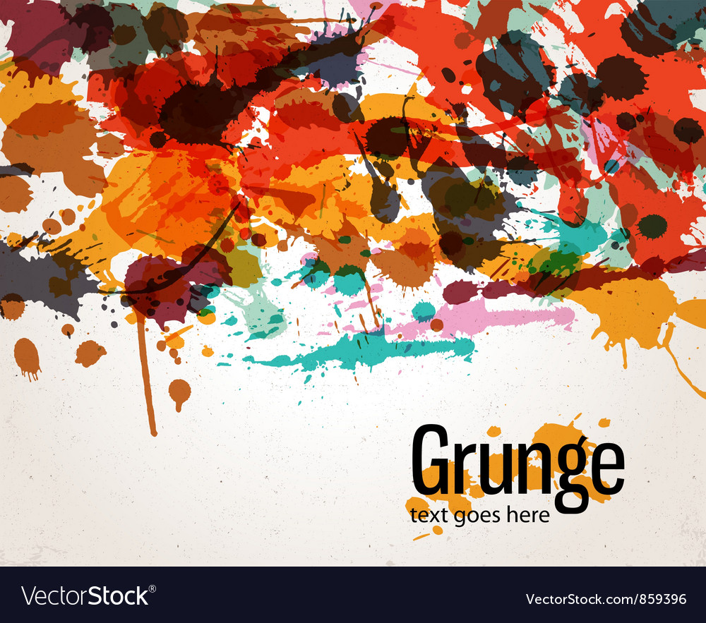 Retro splatter background vector | Price: 1 Credit (USD $1)