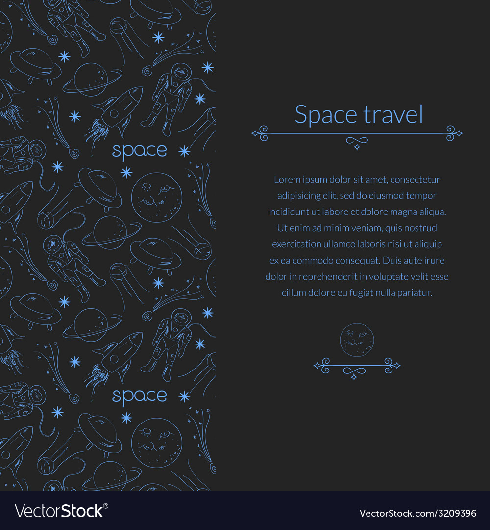 Space background for template card with place for vector | Price: 1 Credit (USD $1)