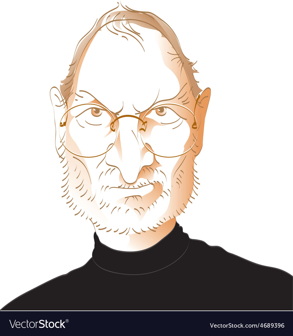 Steve jobs caricature vector | Price: 3 Credit (USD $3)
