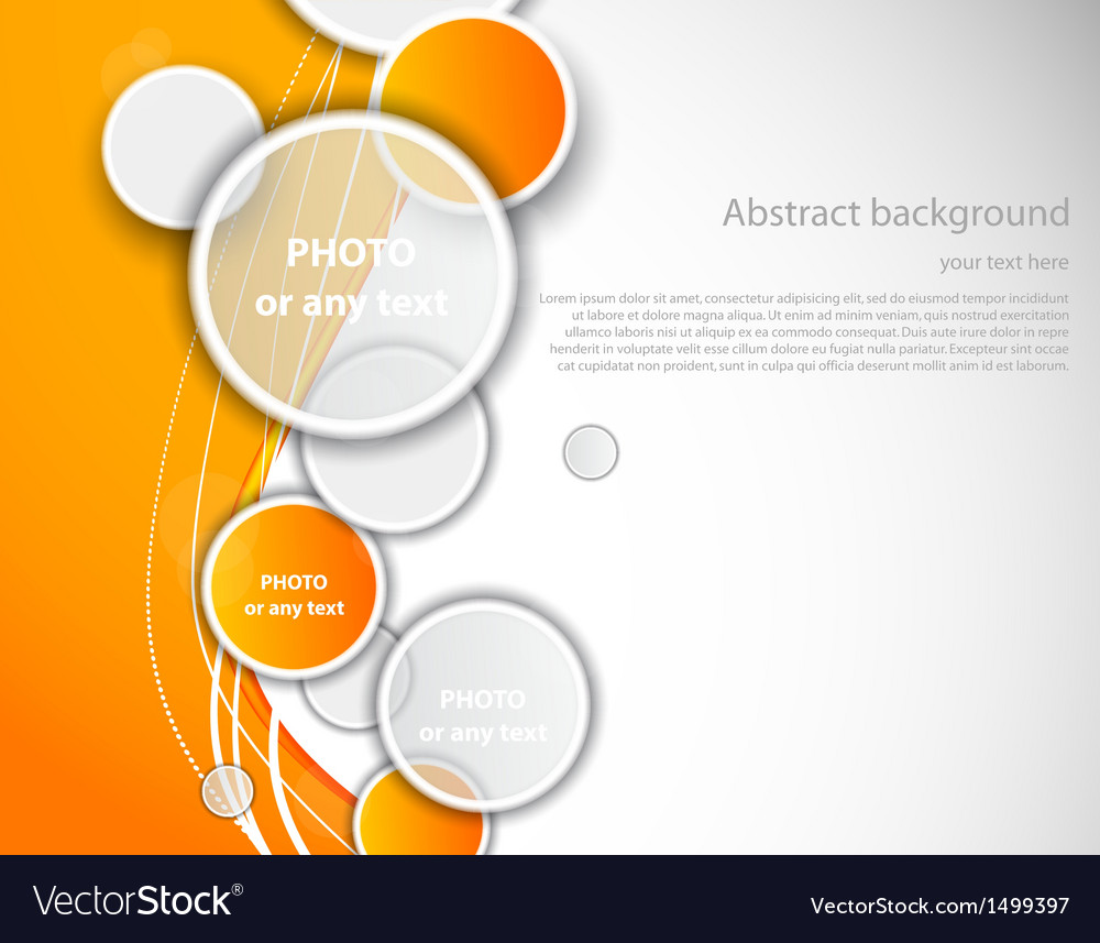 Abstract orange brochure vector | Price: 1 Credit (USD $1)