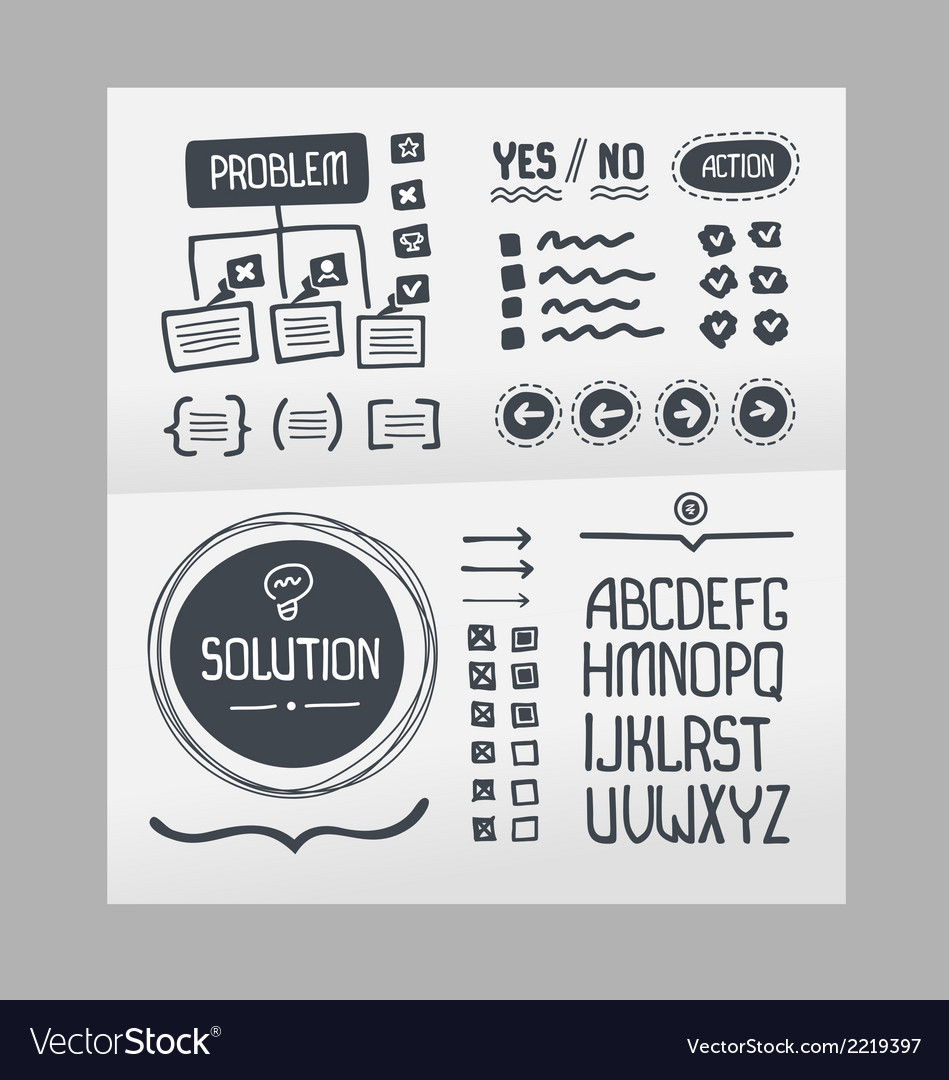 Action plan - hand drawn elements template vector | Price: 1 Credit (USD $1)