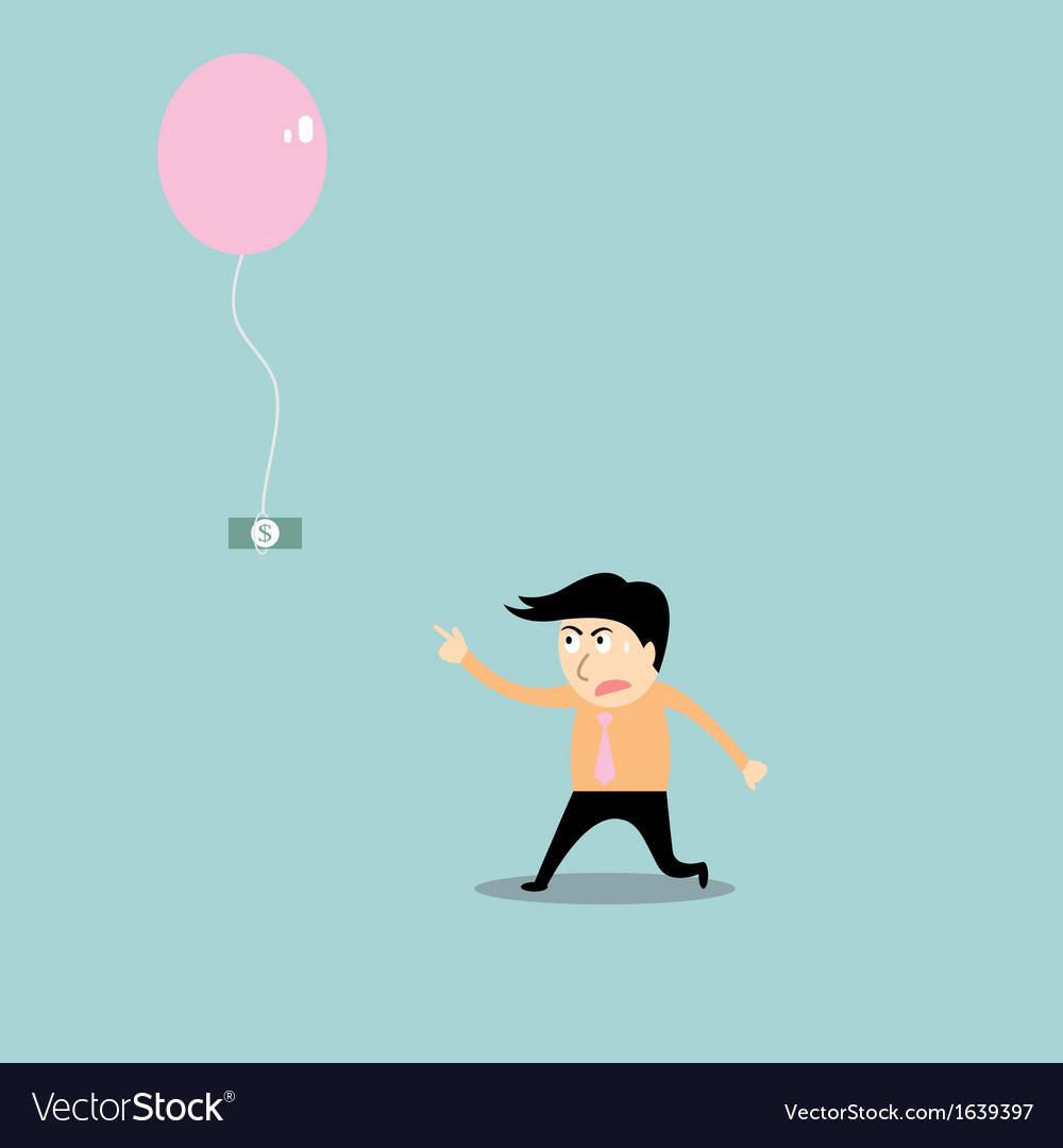 Businessman chasing money vector | Price: 1 Credit (USD $1)