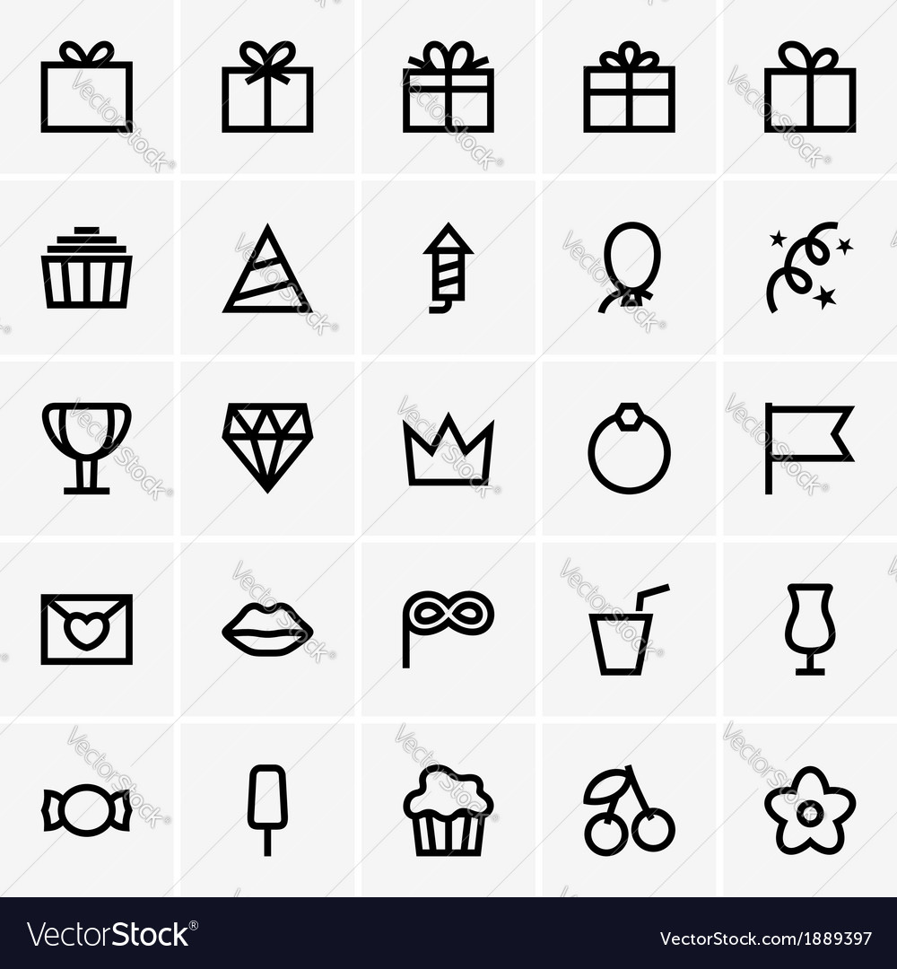 Celebration icons vector | Price: 1 Credit (USD $1)