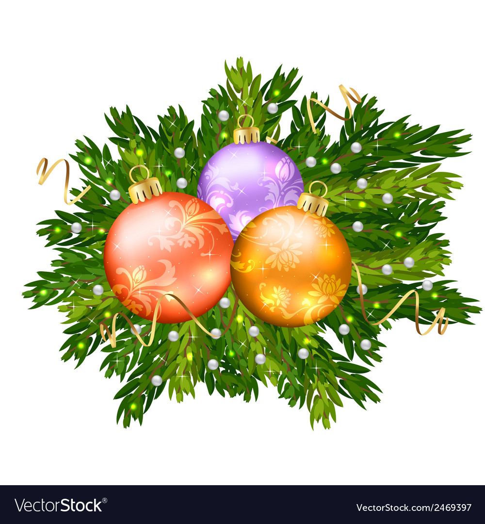 Christmas ball isolated vector | Price: 1 Credit (USD $1)