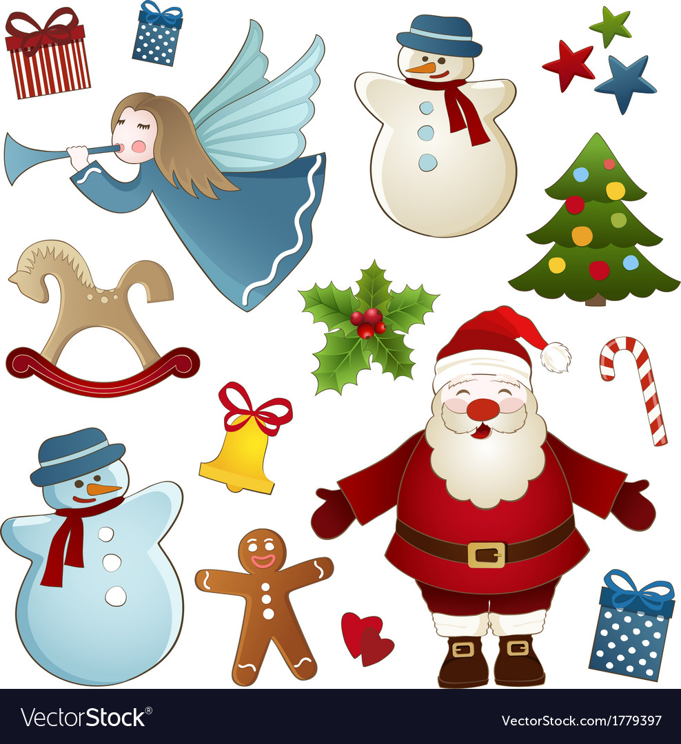 Christmas isolated elements vector | Price: 1 Credit (USD $1)