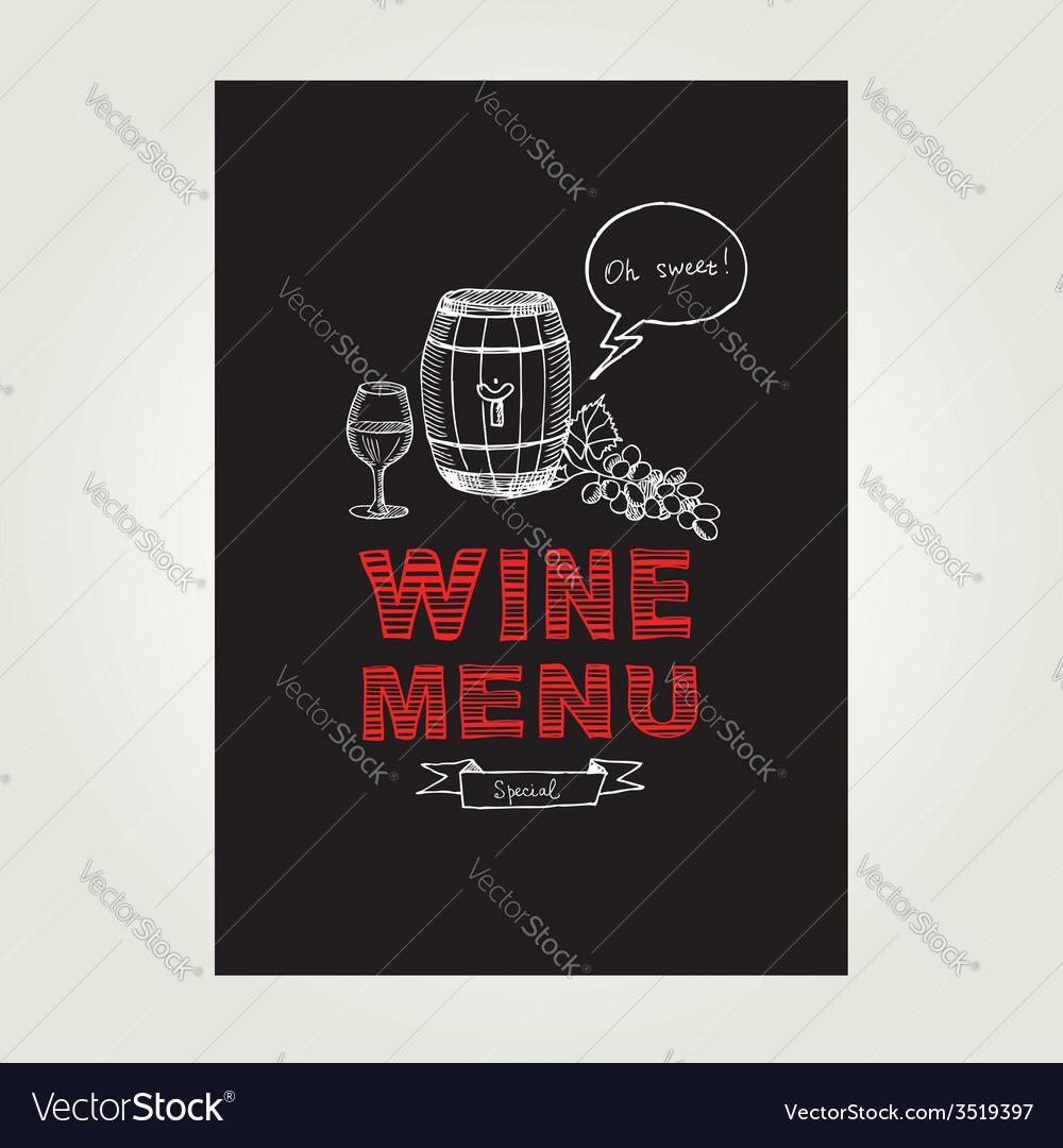 Cocktail wine bar menu template design vector   Price: 1 Credit (USD $1)