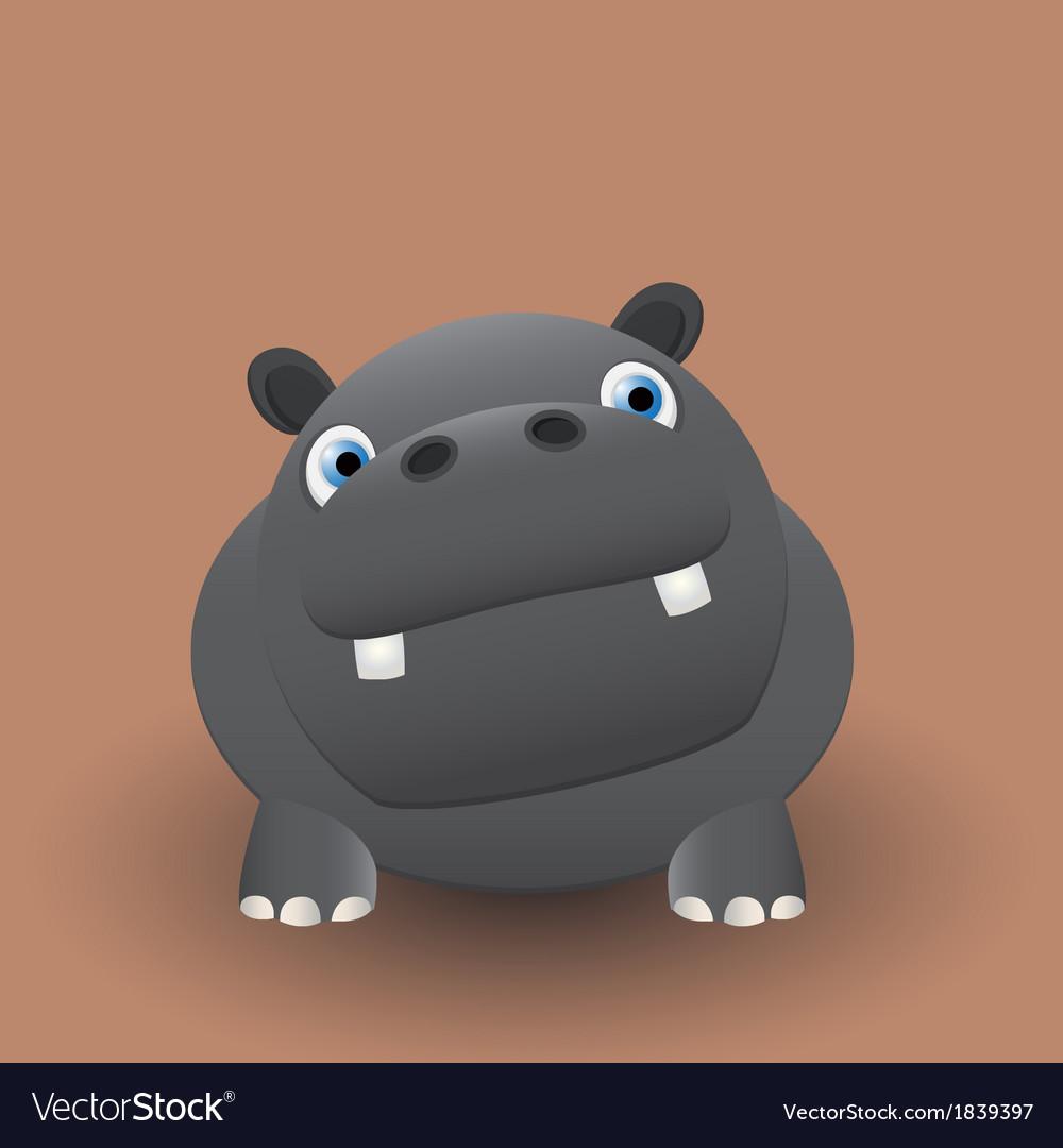 Cute baby hippo vector | Price: 1 Credit (USD $1)