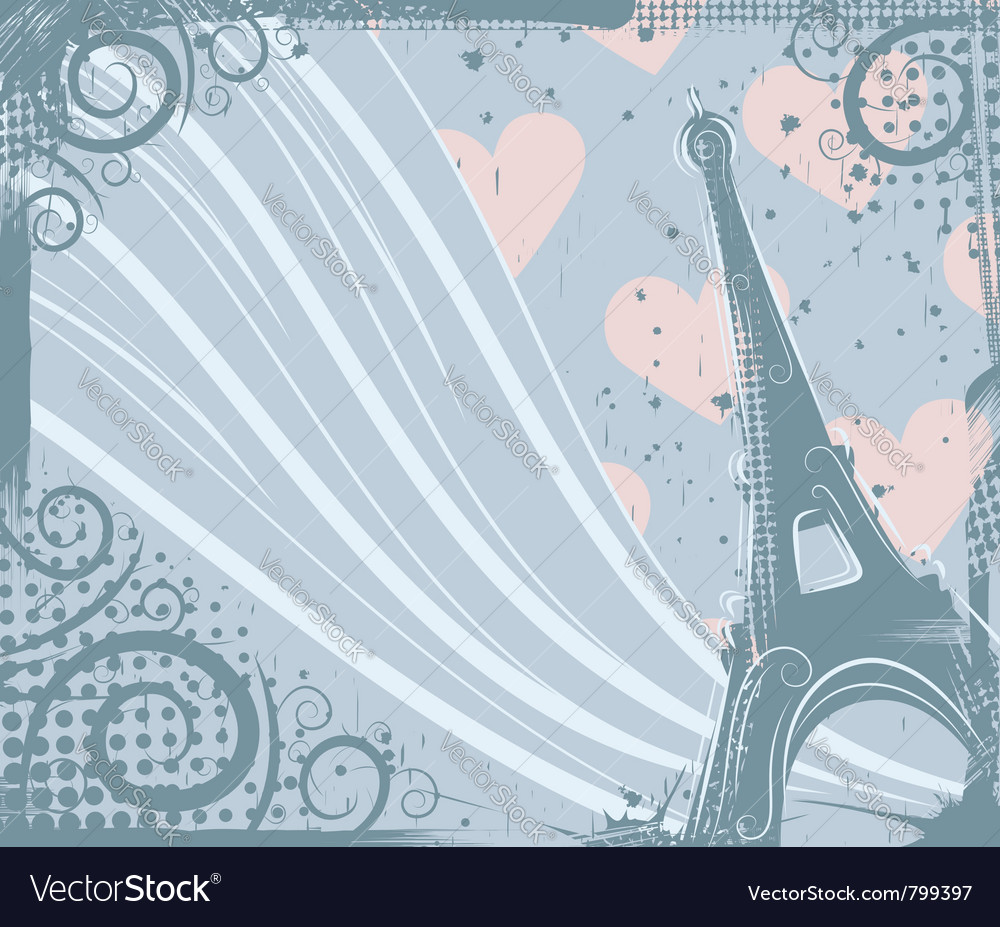 Eiffel tower grunge background vector | Price: 1 Credit (USD $1)