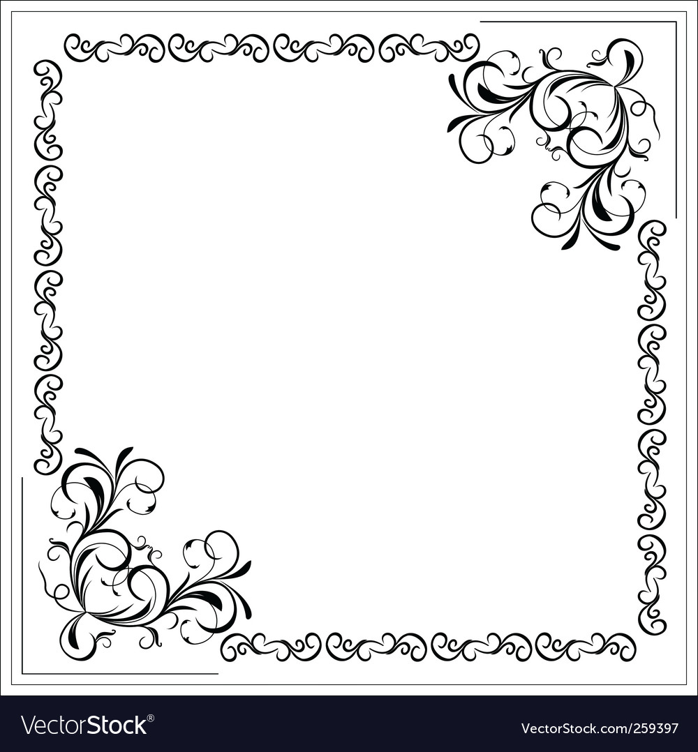 Filigree border vector | Price: 1 Credit (USD $1)