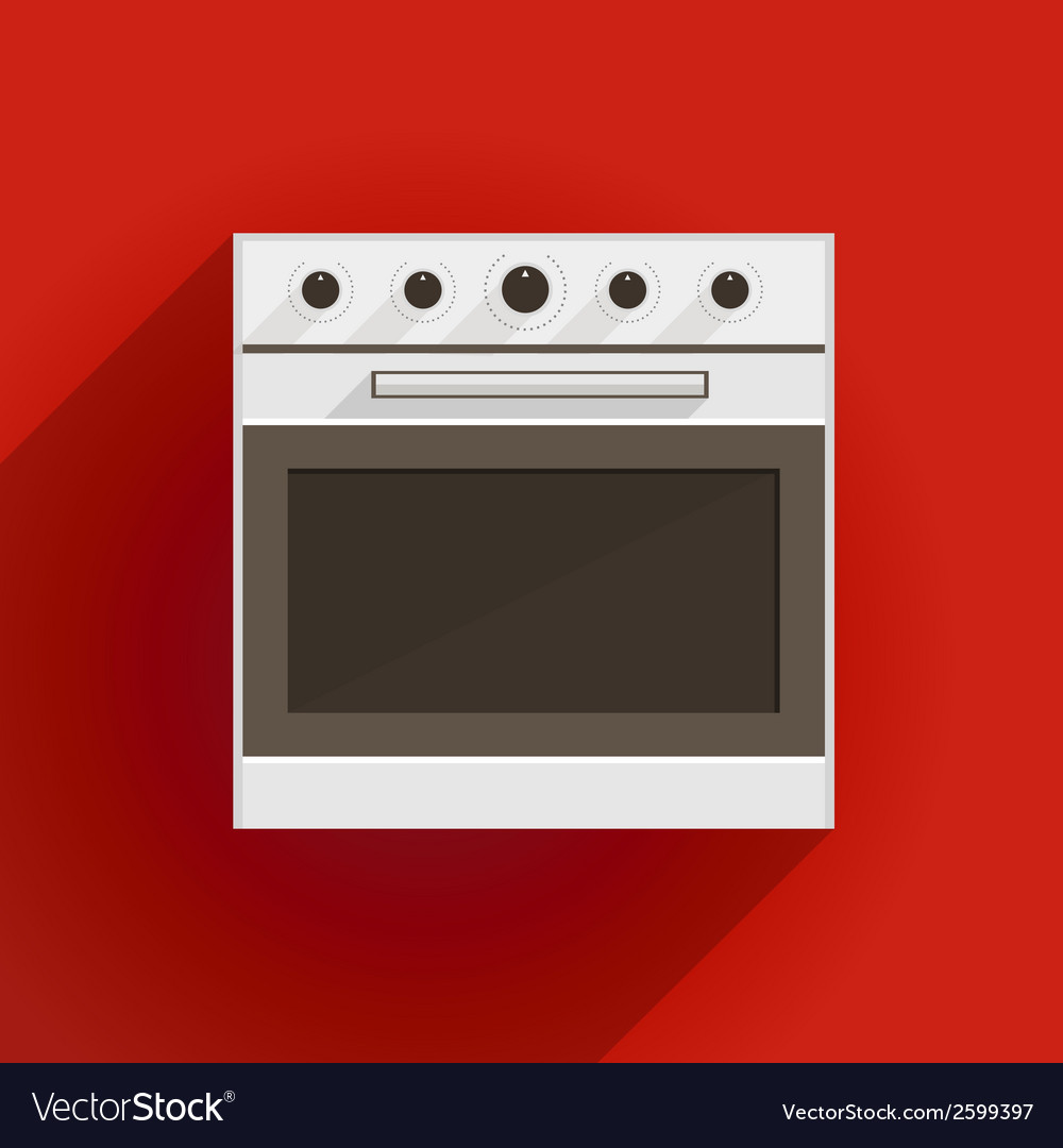 Flat of oven vector | Price: 1 Credit (USD $1)