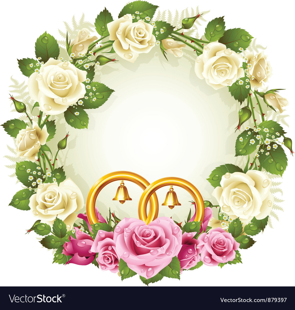 Flower frame vector | Price: 3 Credit (USD $3)