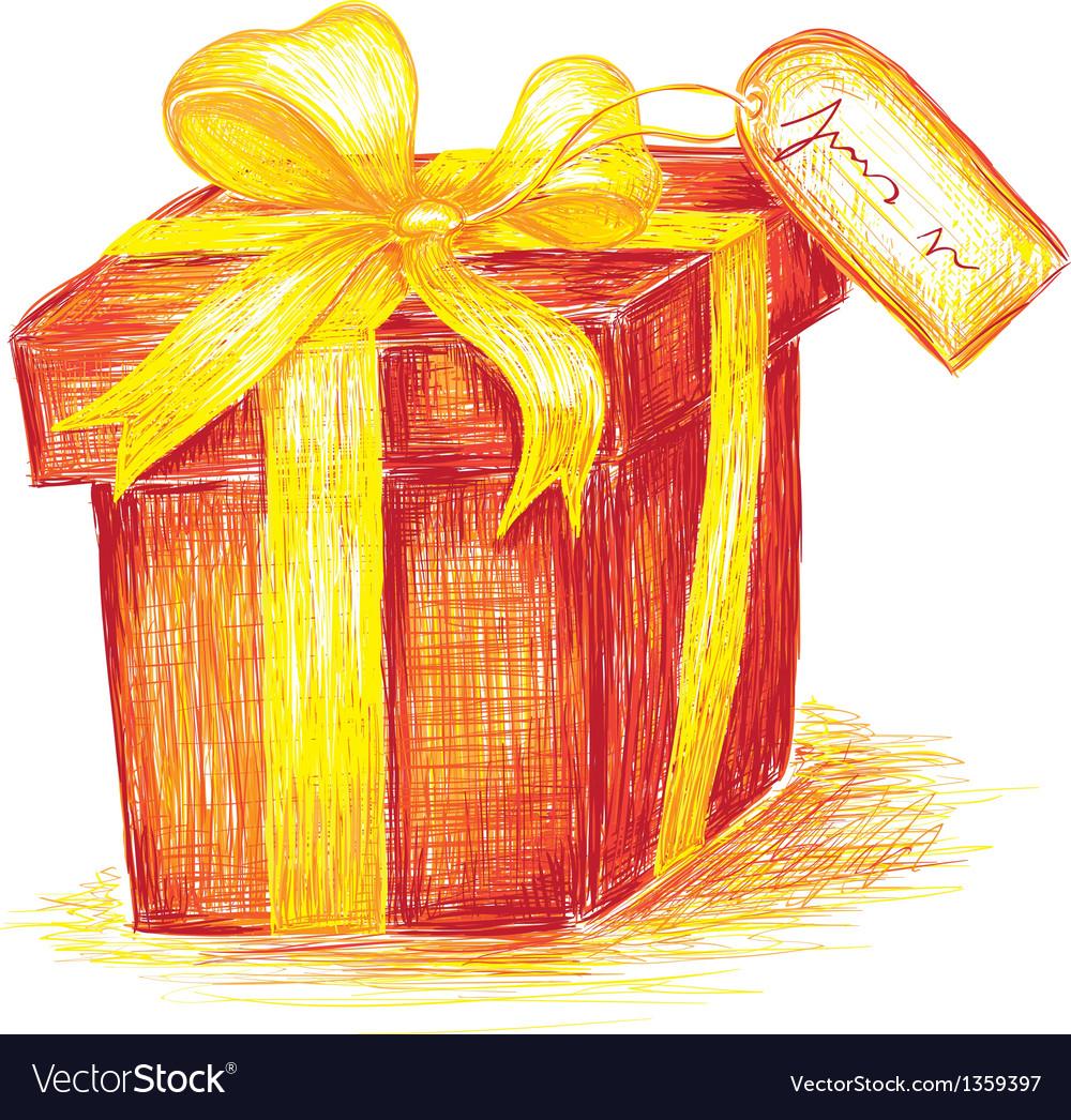 Hand drawn present vector | Price: 1 Credit (USD $1)
