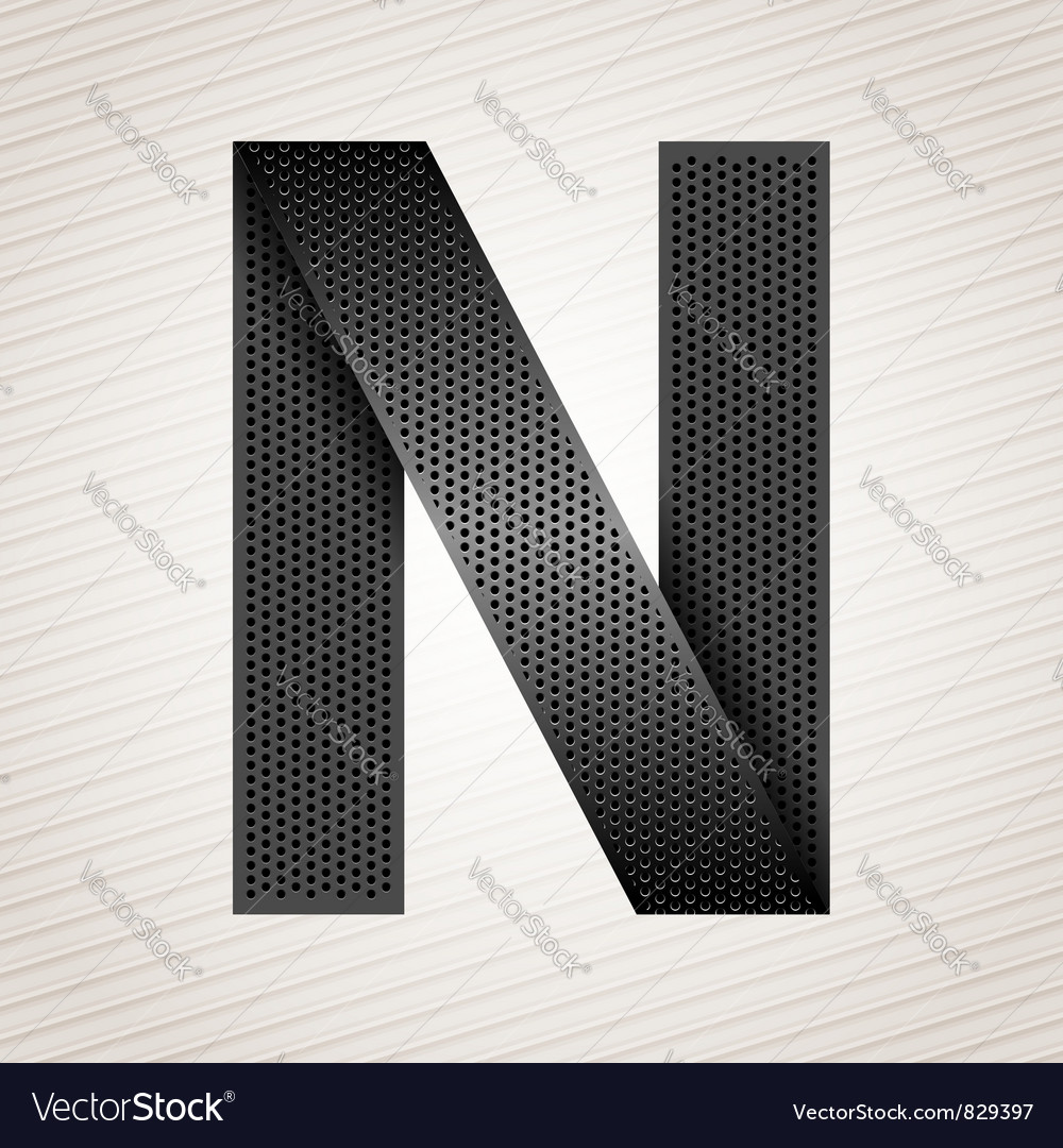 Letter metal ribbon - n vector | Price: 1 Credit (USD $1)