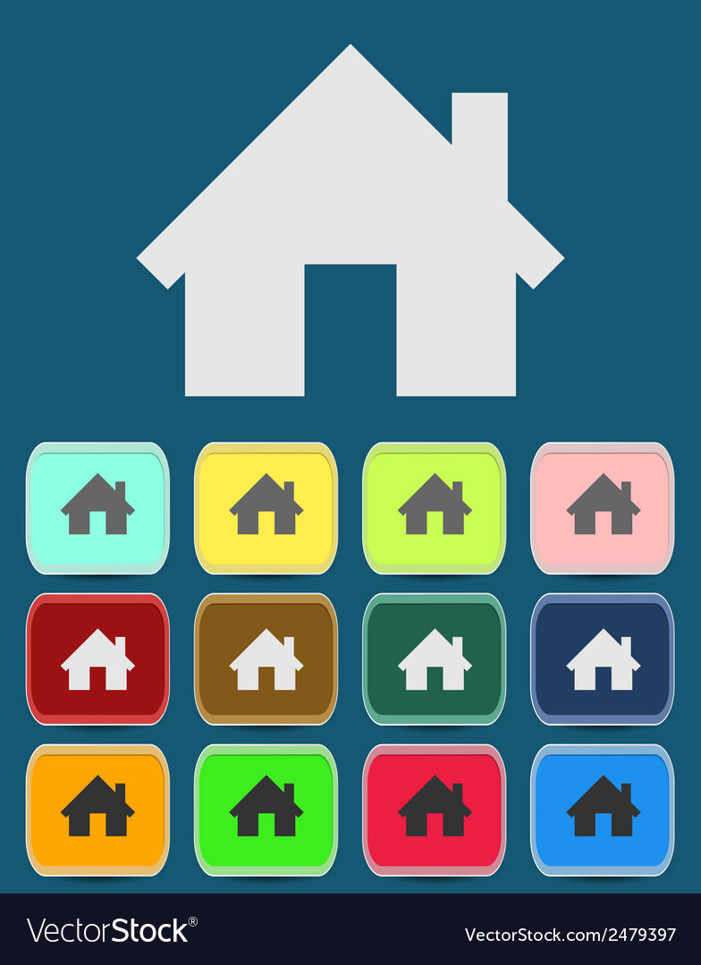 Real estate concept small house - icon vector | Price: 1 Credit (USD $1)