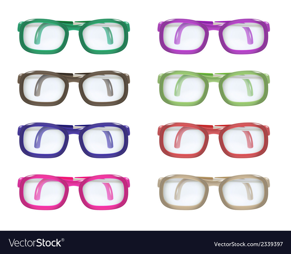 Set of color glasses vector | Price: 1 Credit (USD $1)