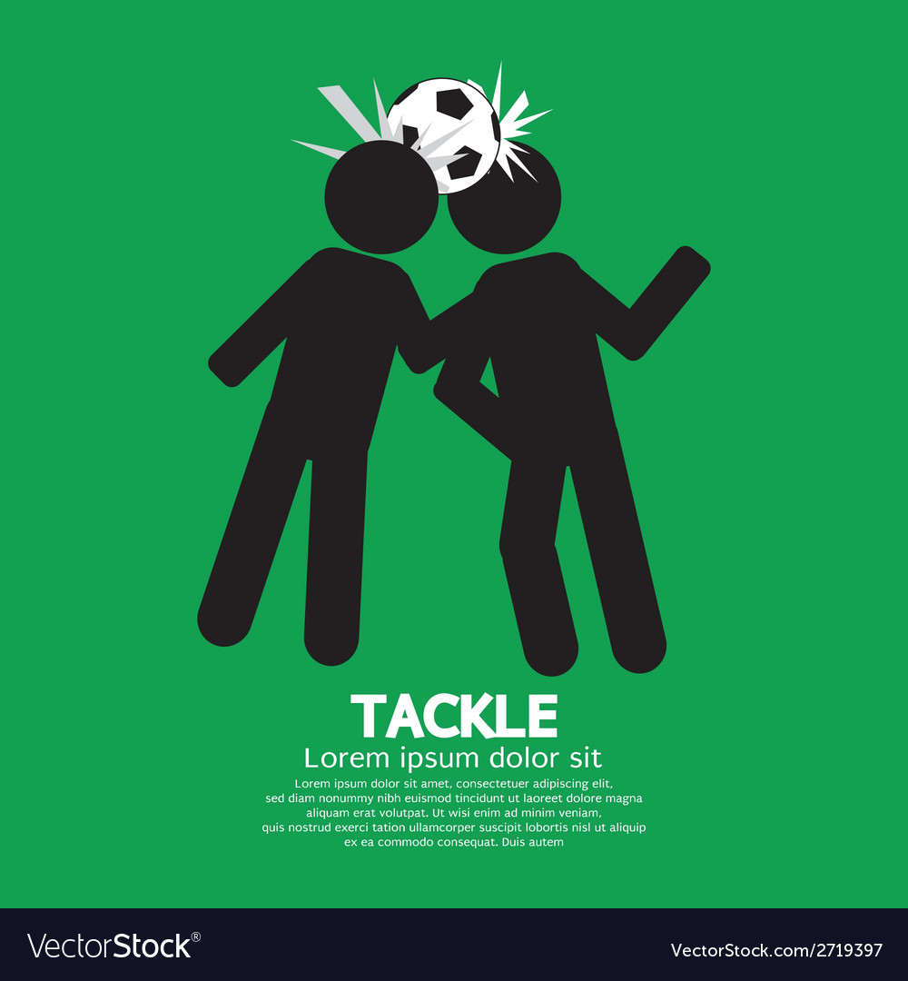 Tackle soccer sign vector | Price: 1 Credit (USD $1)