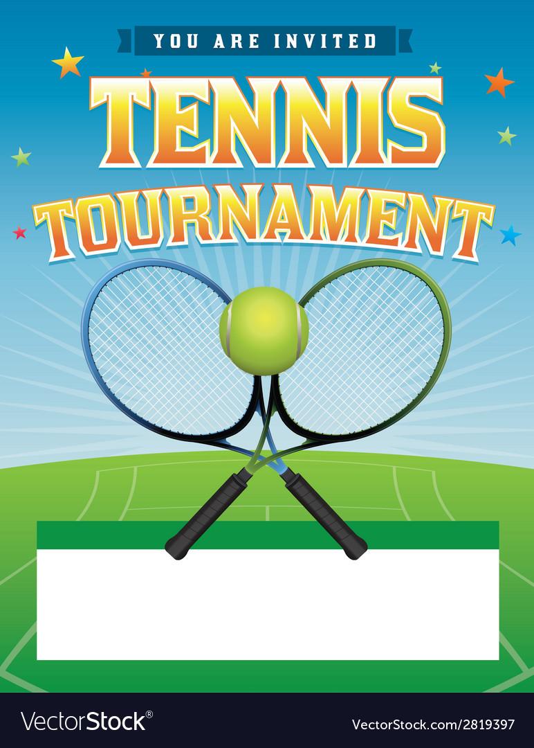 Tennis tournament flyer vector | Price: 1 Credit (USD $1)