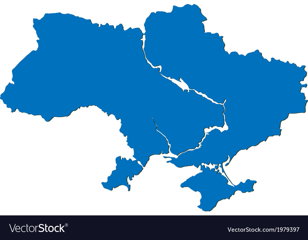Ukraine map vector | Price: 1 Credit (USD $1)