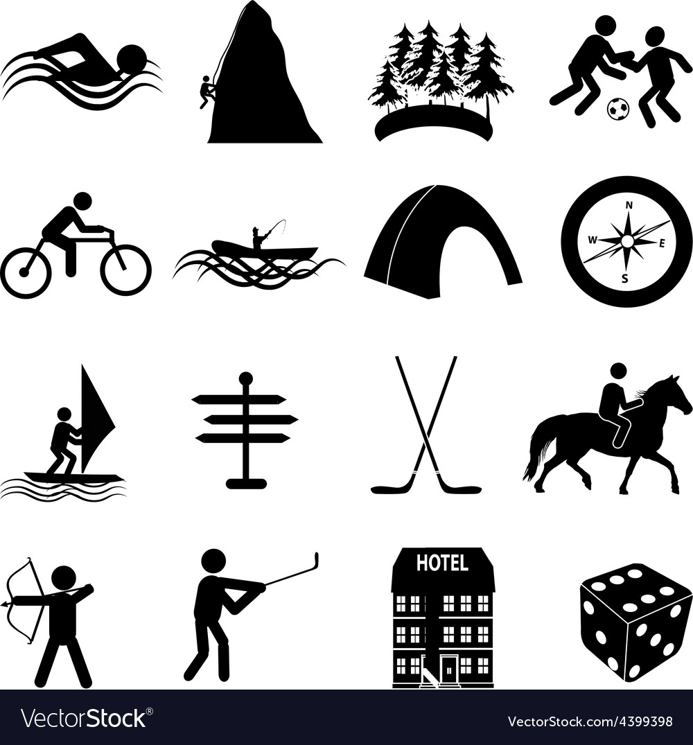 Adventure sports icons set vector | Price: 3 Credit (USD $3)