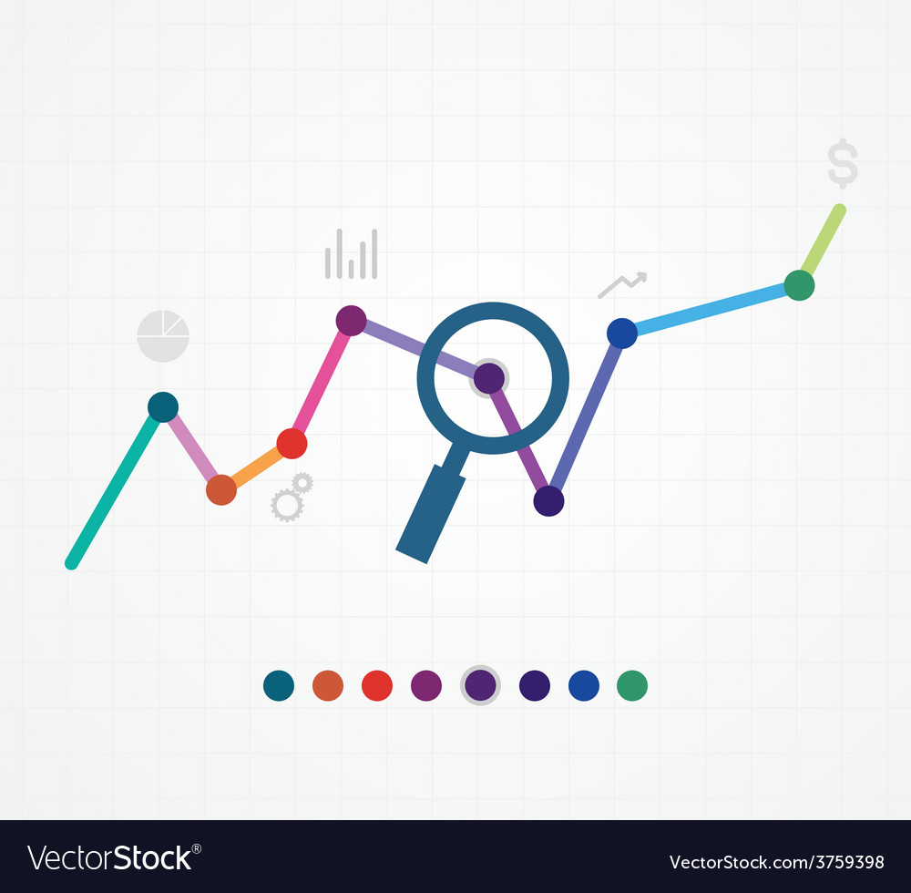 Color of web analytics information and devel vector | Price: 1 Credit (USD $1)