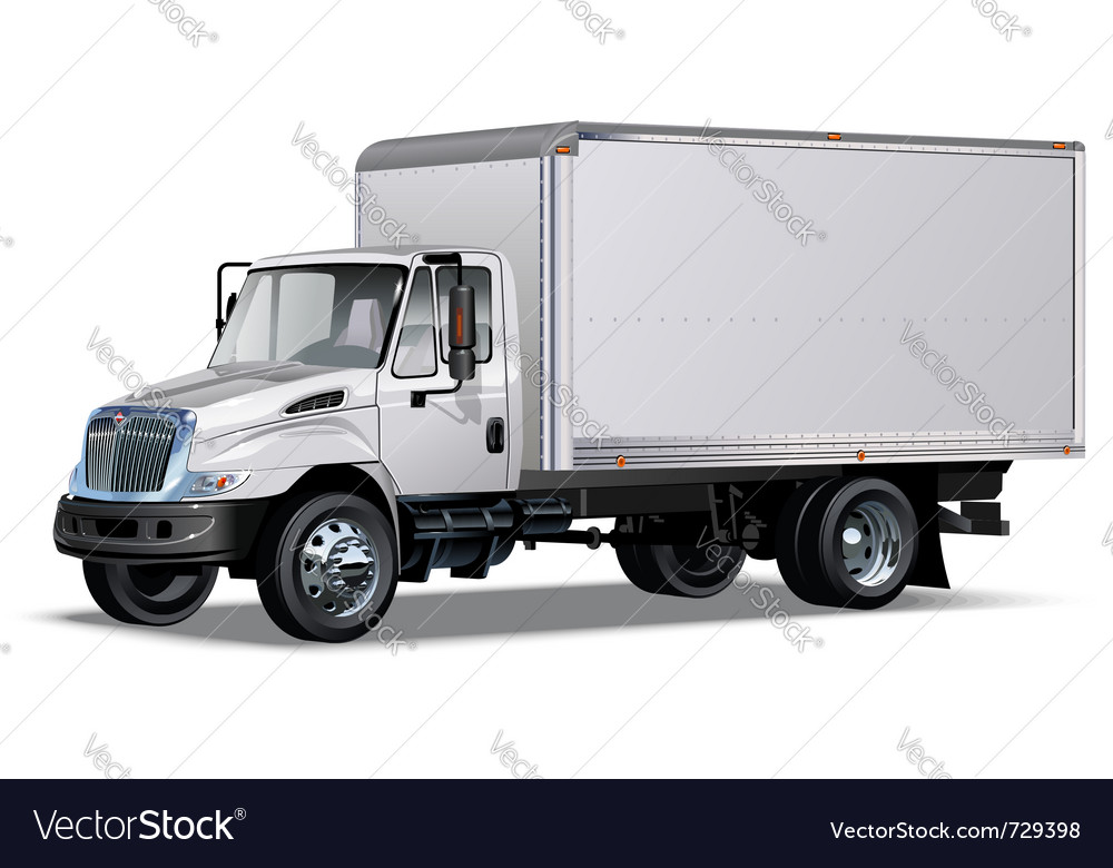 Delivery truck vector | Price: 3 Credit (USD $3)