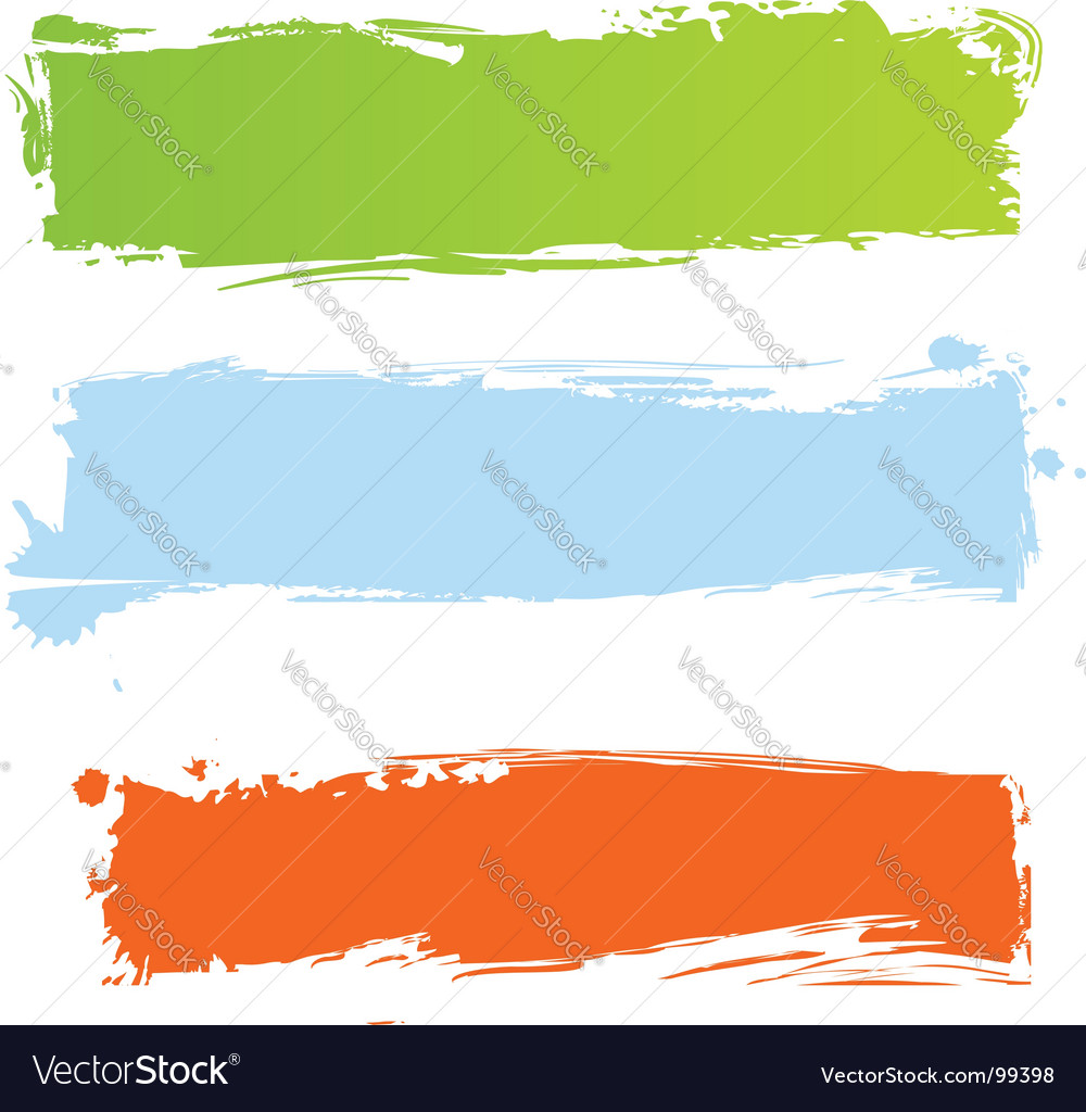 Grunge multicolor banners vector