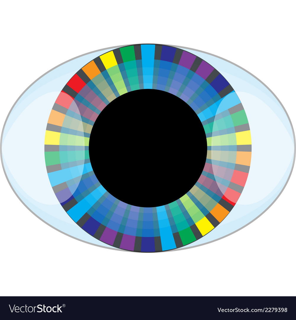 Isolated eye of the rainbow vector | Price: 1 Credit (USD $1)