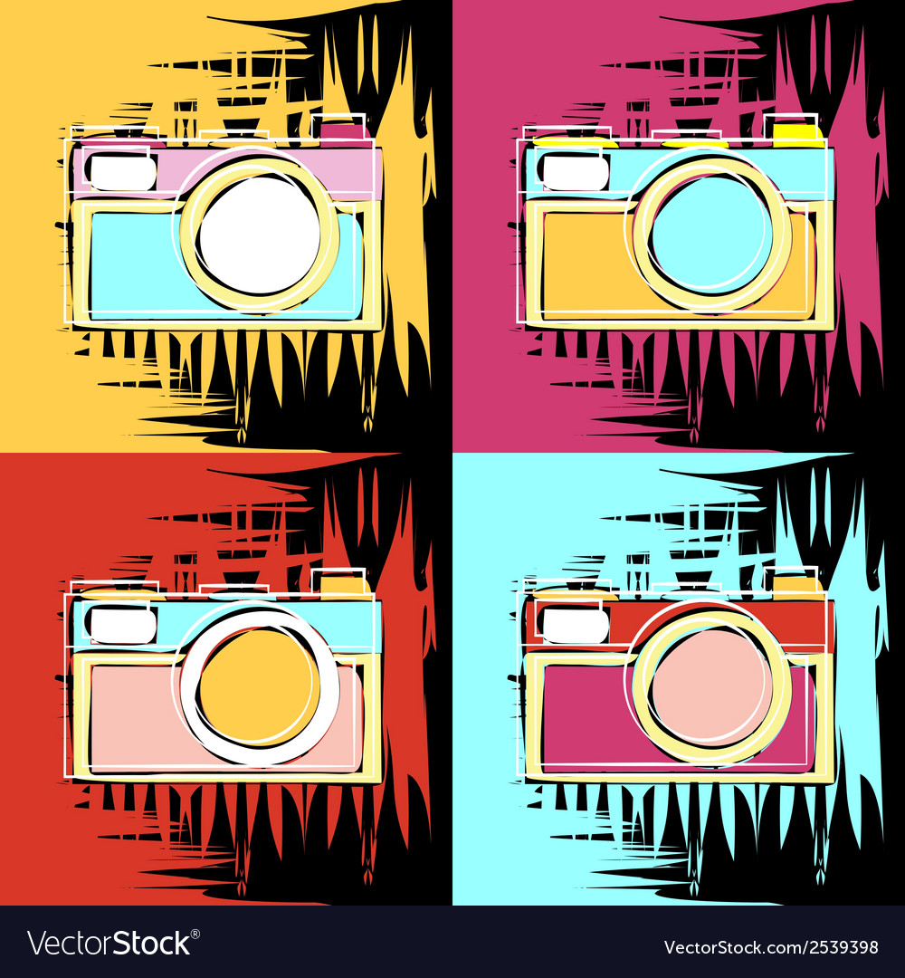Painting in the style of andy warhol vector | Price: 1 Credit (USD $1)