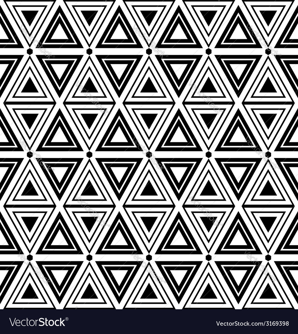 Triangles and diamonds seamless texture vector | Price: 1 Credit (USD $1)