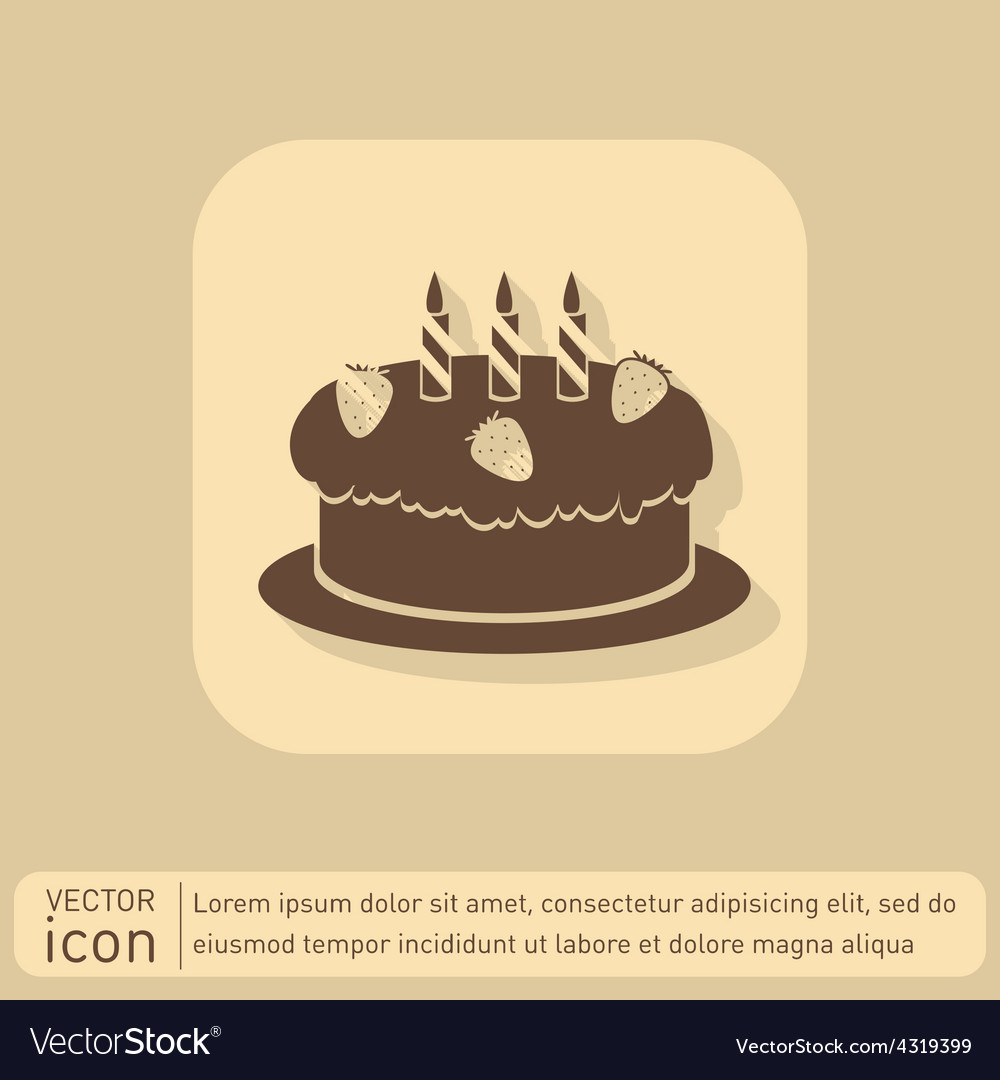 Birthday cake icon vector | Price: 1 Credit (USD $1)
