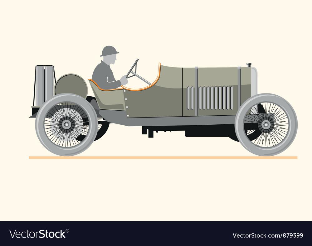 Cartoon old retro car vector | Price: 1 Credit (USD $1)