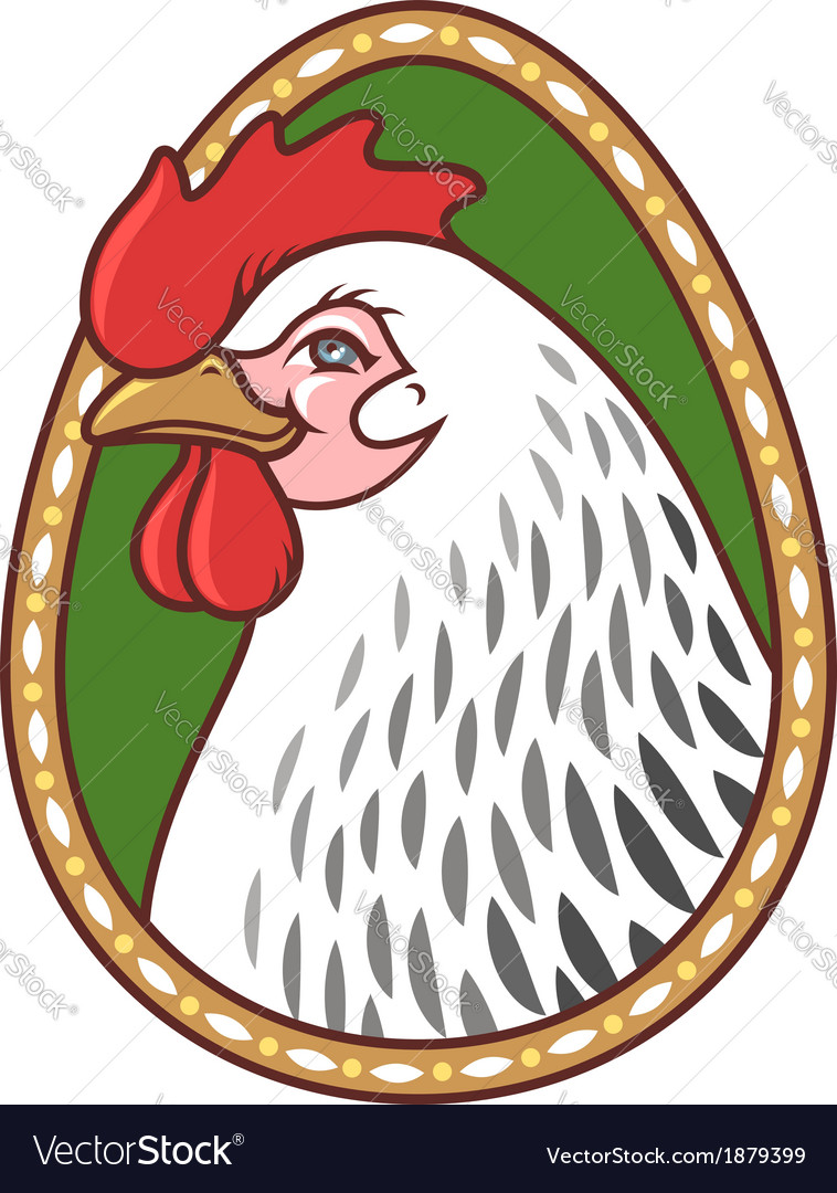 Chicken easter vector | Price: 1 Credit (USD $1)