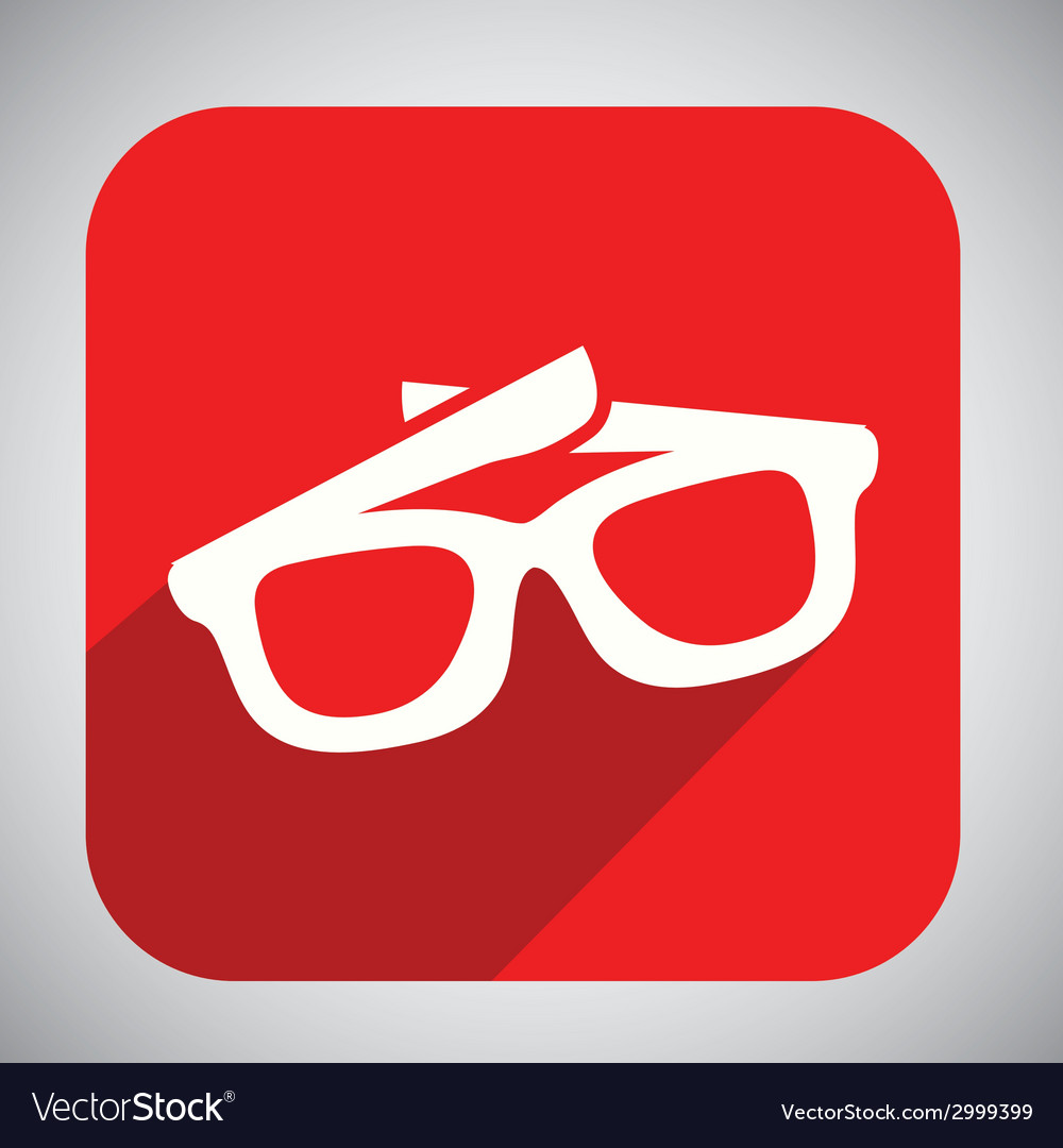 Glasses button design vector | Price: 1 Credit (USD $1)