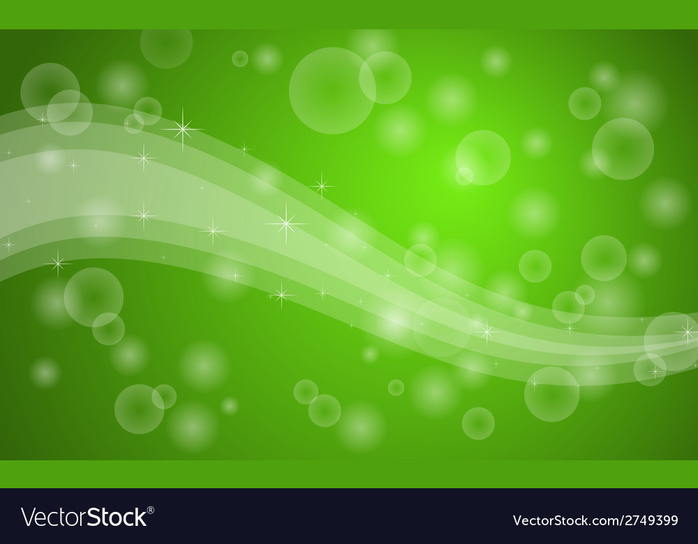 Green bubbles background vector