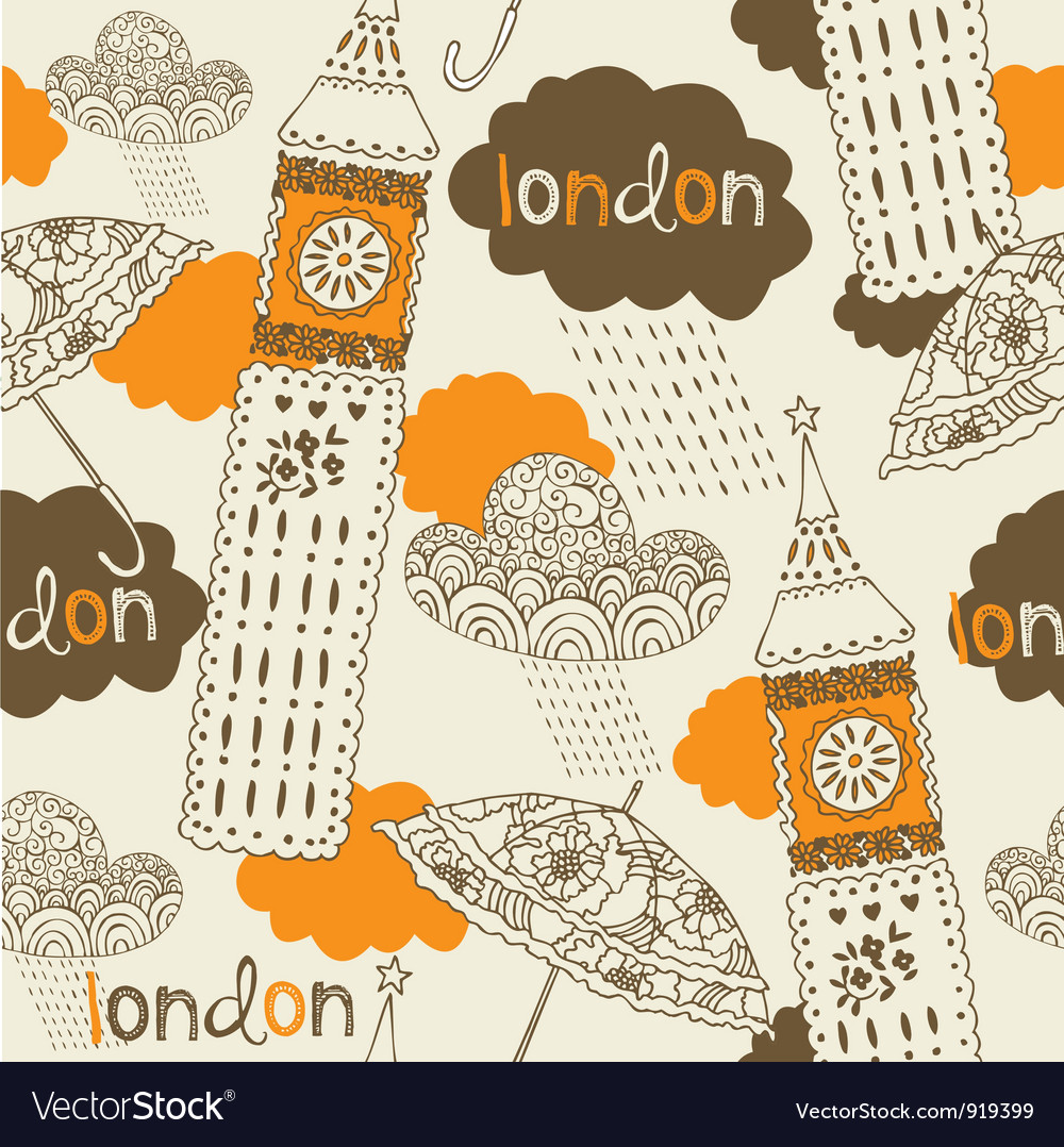 London elements background vector | Price: 1 Credit (USD $1)