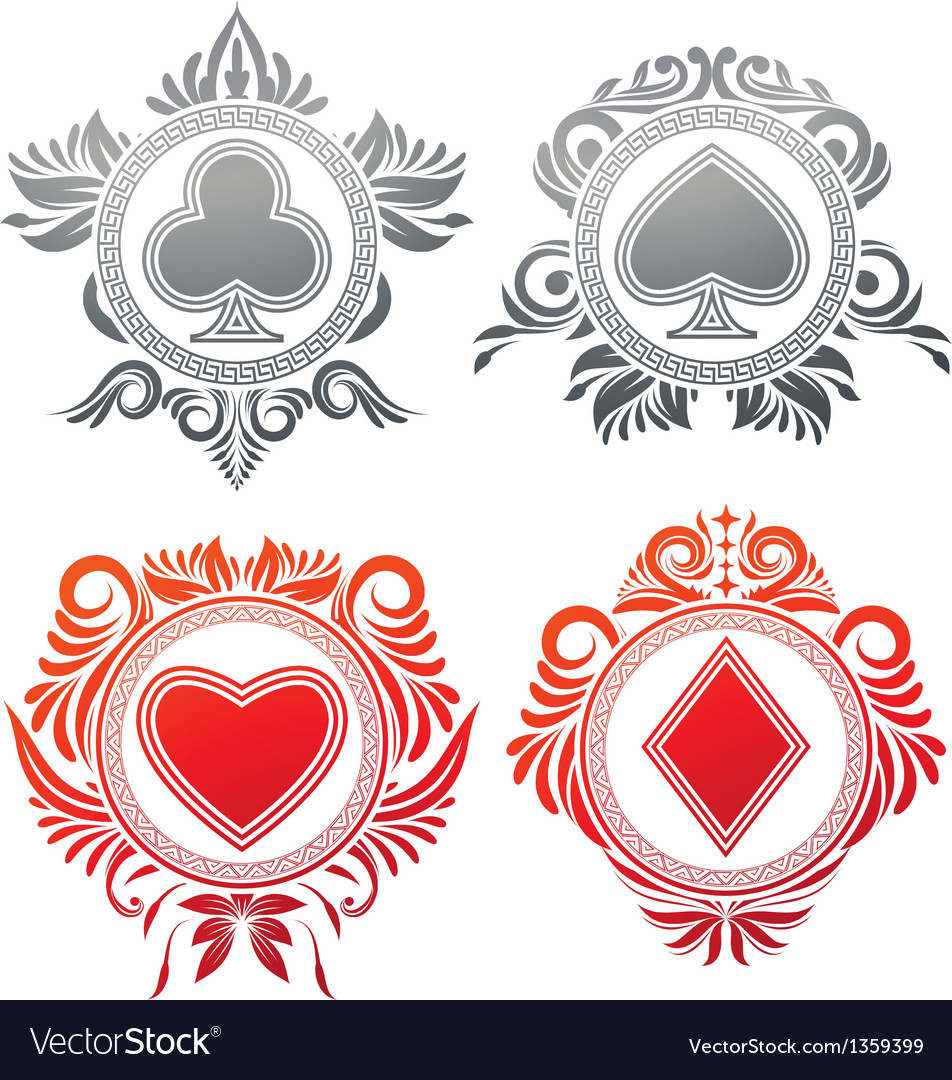 Playing card circle ornament vector | Price: 1 Credit (USD $1)