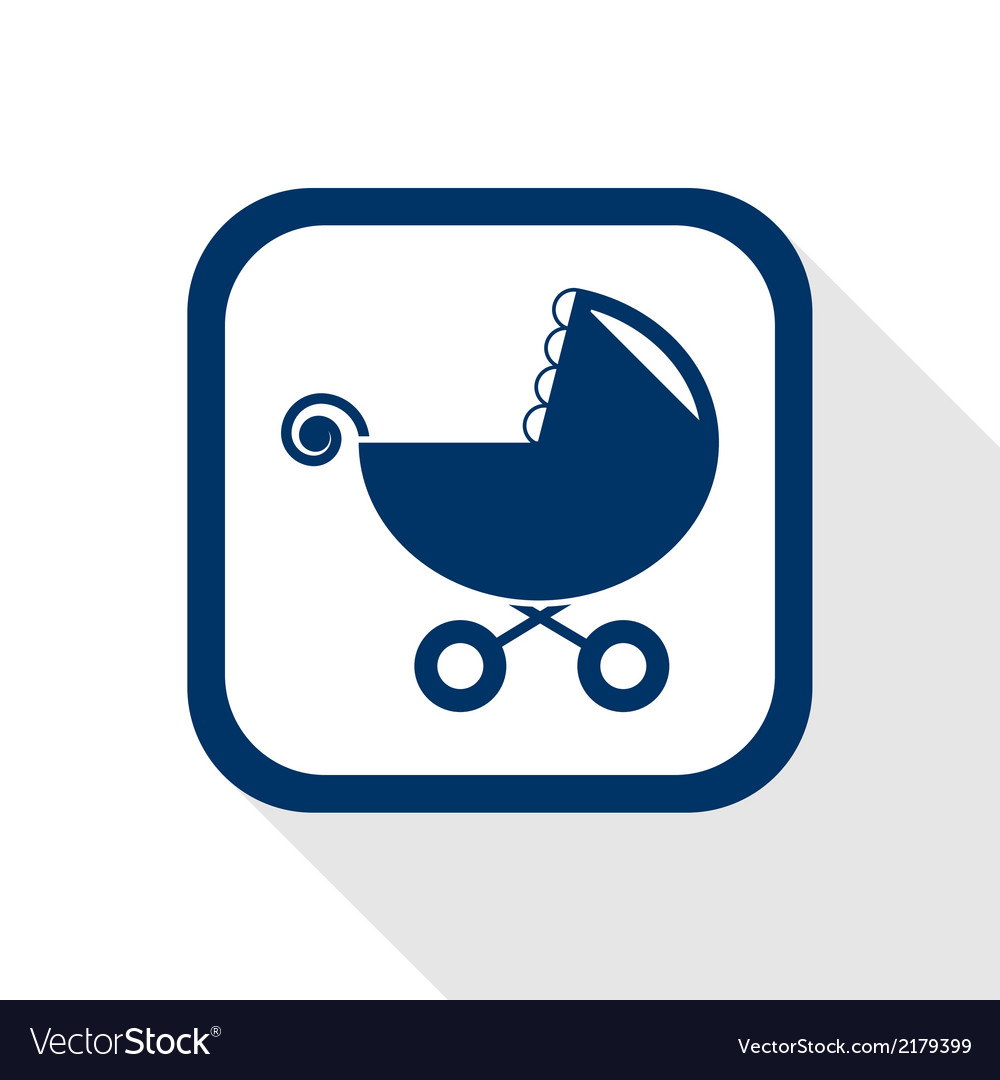 Stroller flat icon vector | Price: 1 Credit (USD $1)