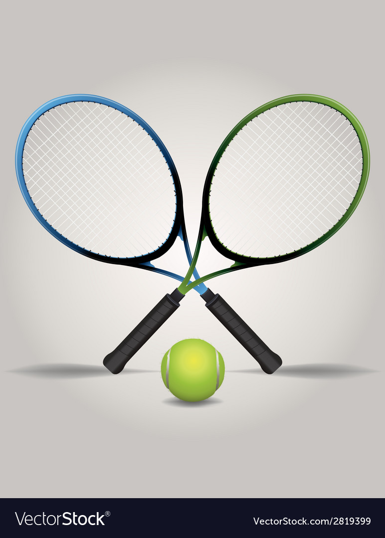 Tennis racquets and ball vector | Price: 1 Credit (USD $1)