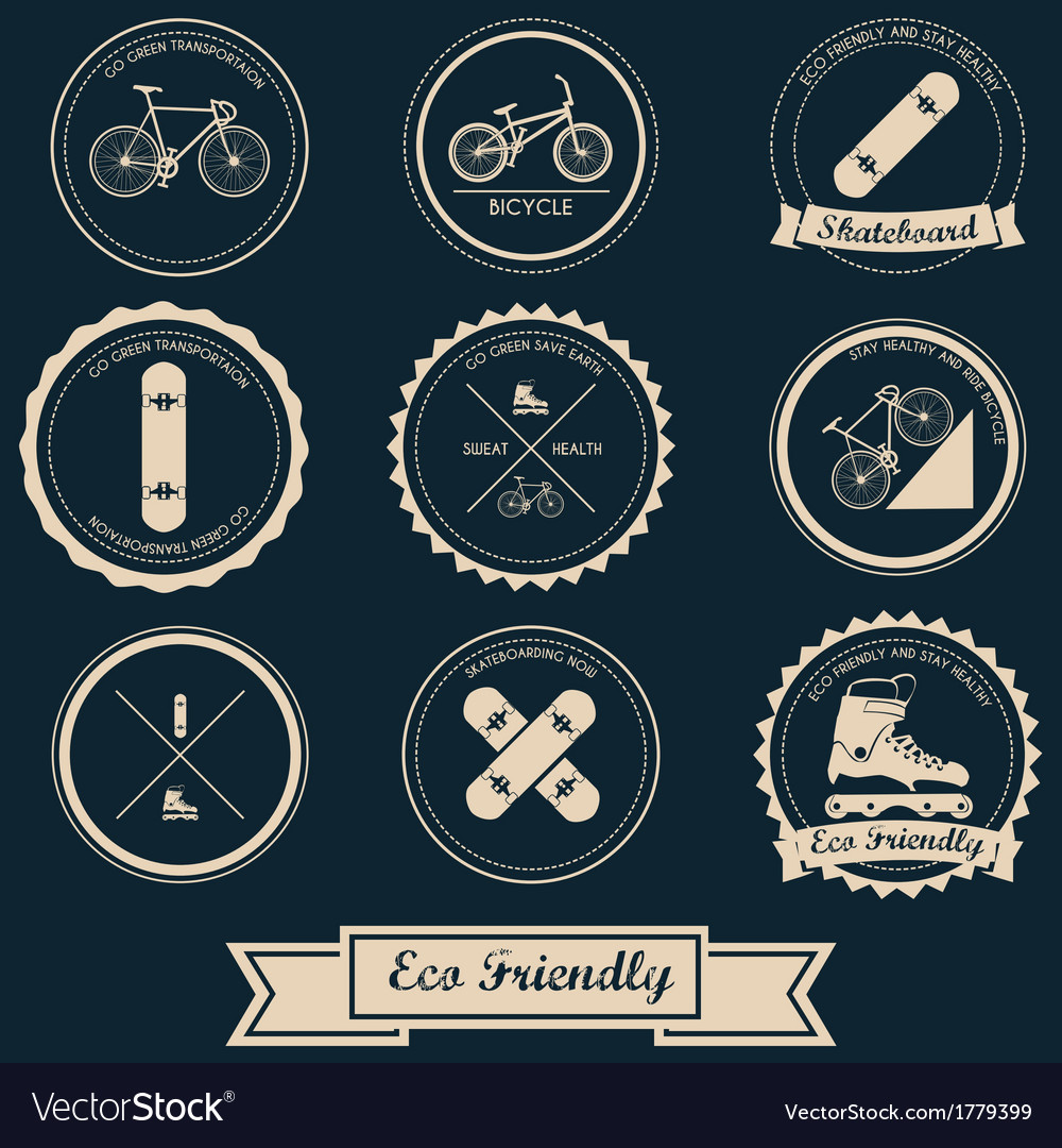 Urban transportation label design vector | Price: 1 Credit (USD $1)