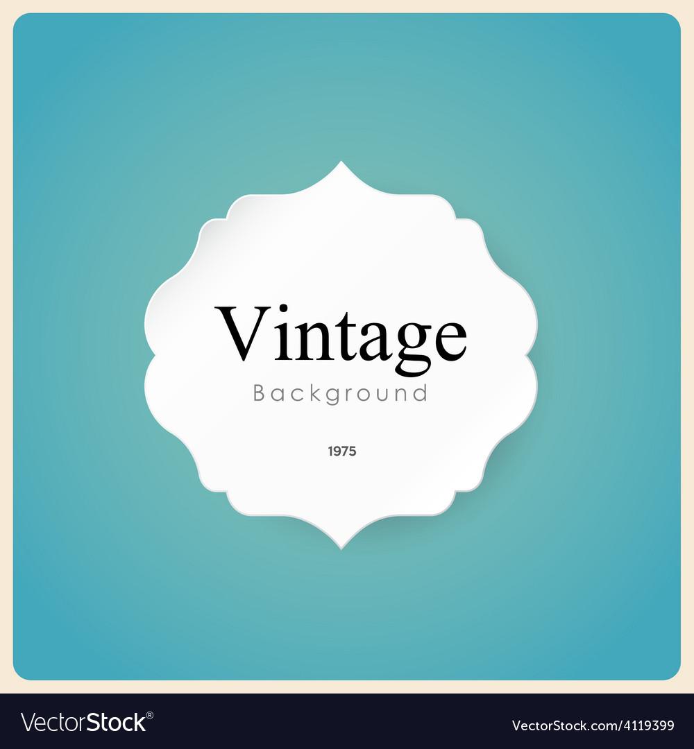 White vintage frame on blue background vector | Price: 1 Credit (USD $1)