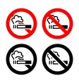 No smoking signs vector